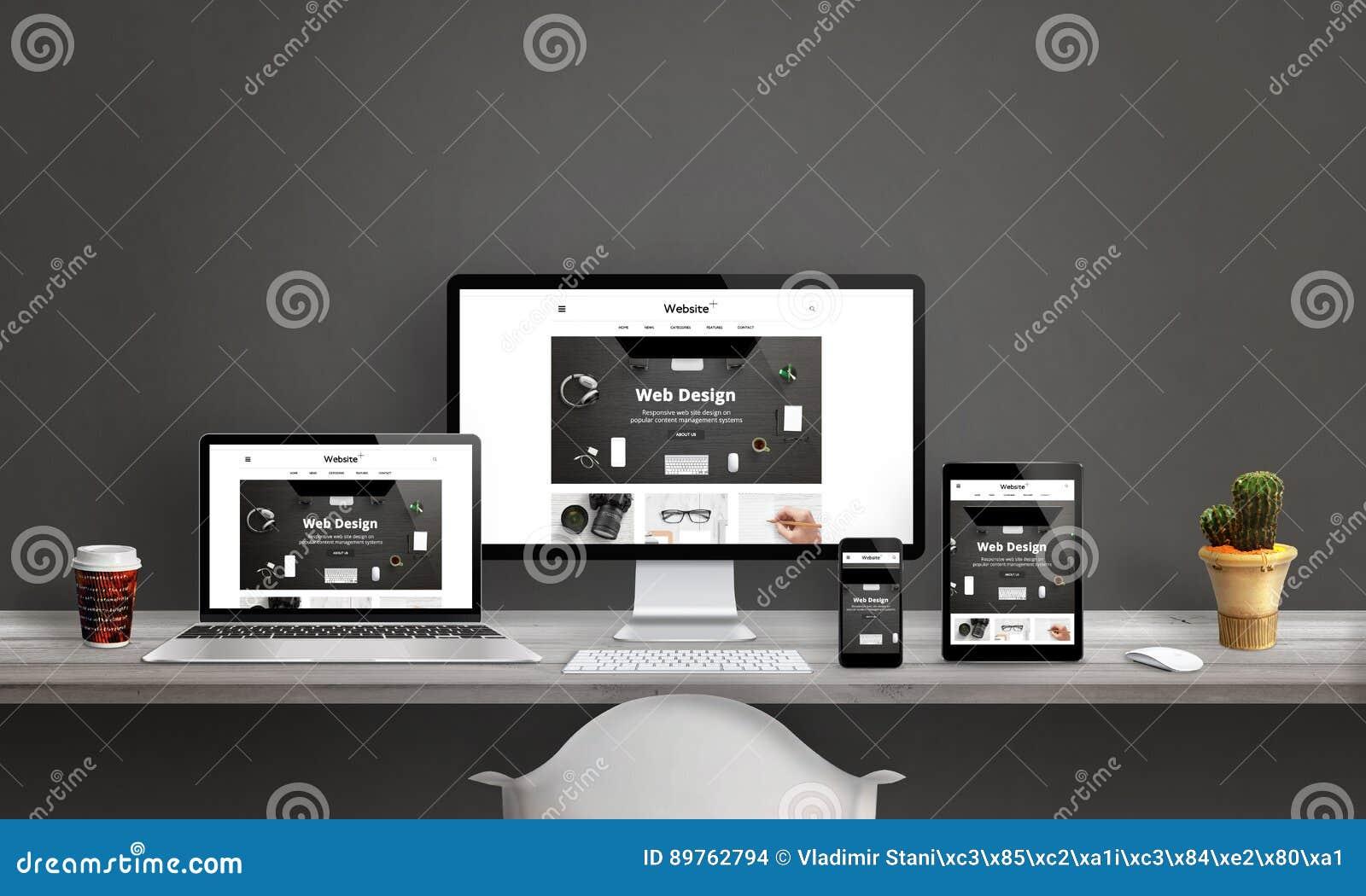 Sieć projekta studio z wyczuloną strony internetowej promocją