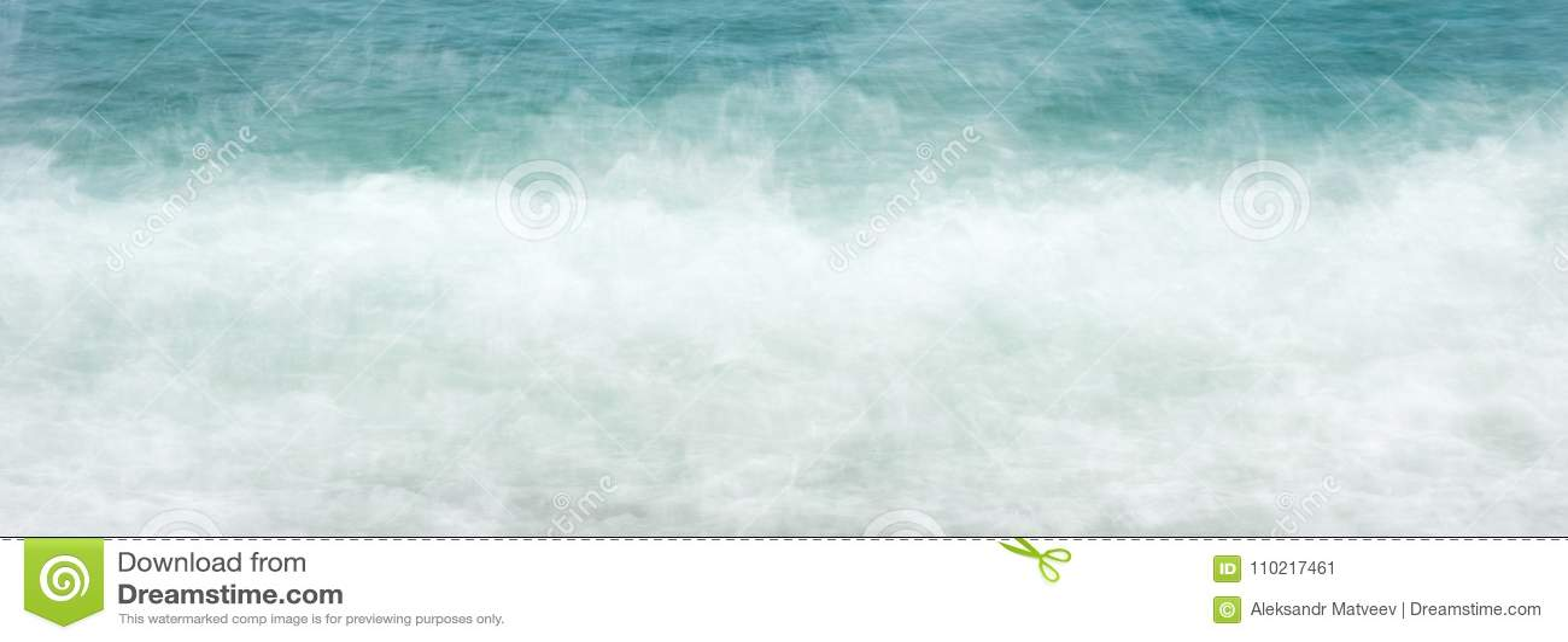 Sieć sztandaru wody morskiej fala piankowy tło