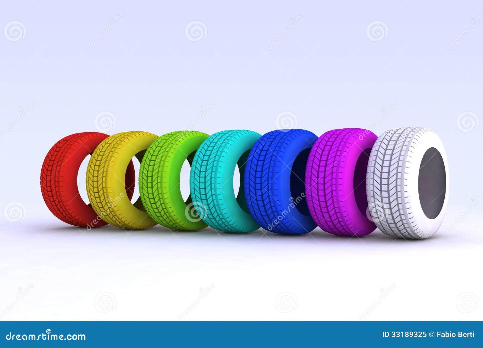 sieben farbige reifen lizenzfreies stockfoto bild 33189325. Black Bedroom Furniture Sets. Home Design Ideas