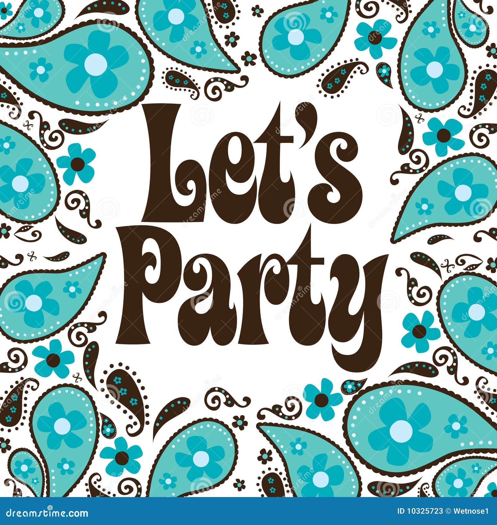 Siebziger Art Party Einladung Stockfotos   Bild: 10325723