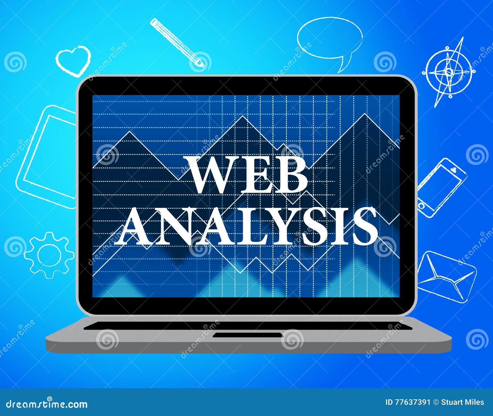 Sieci analiza Pokazuje dane analityka I analityka