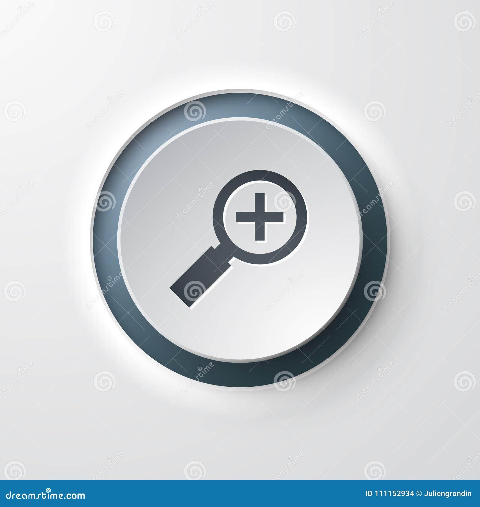 Sieci ikony pchnięcia guzika powiększać - szkło