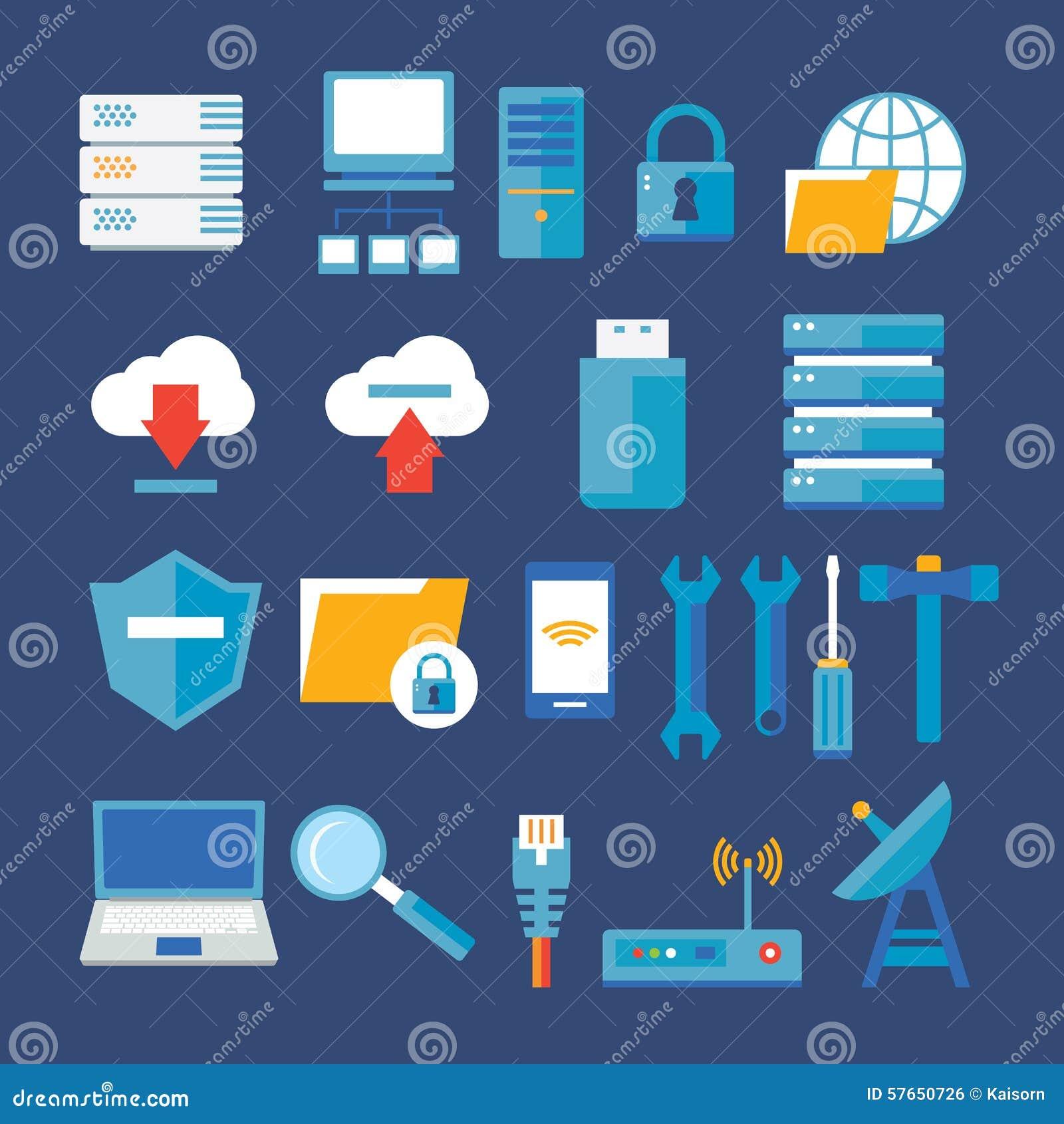 Sieci komputerowej i bazy danych mieszkania ikona