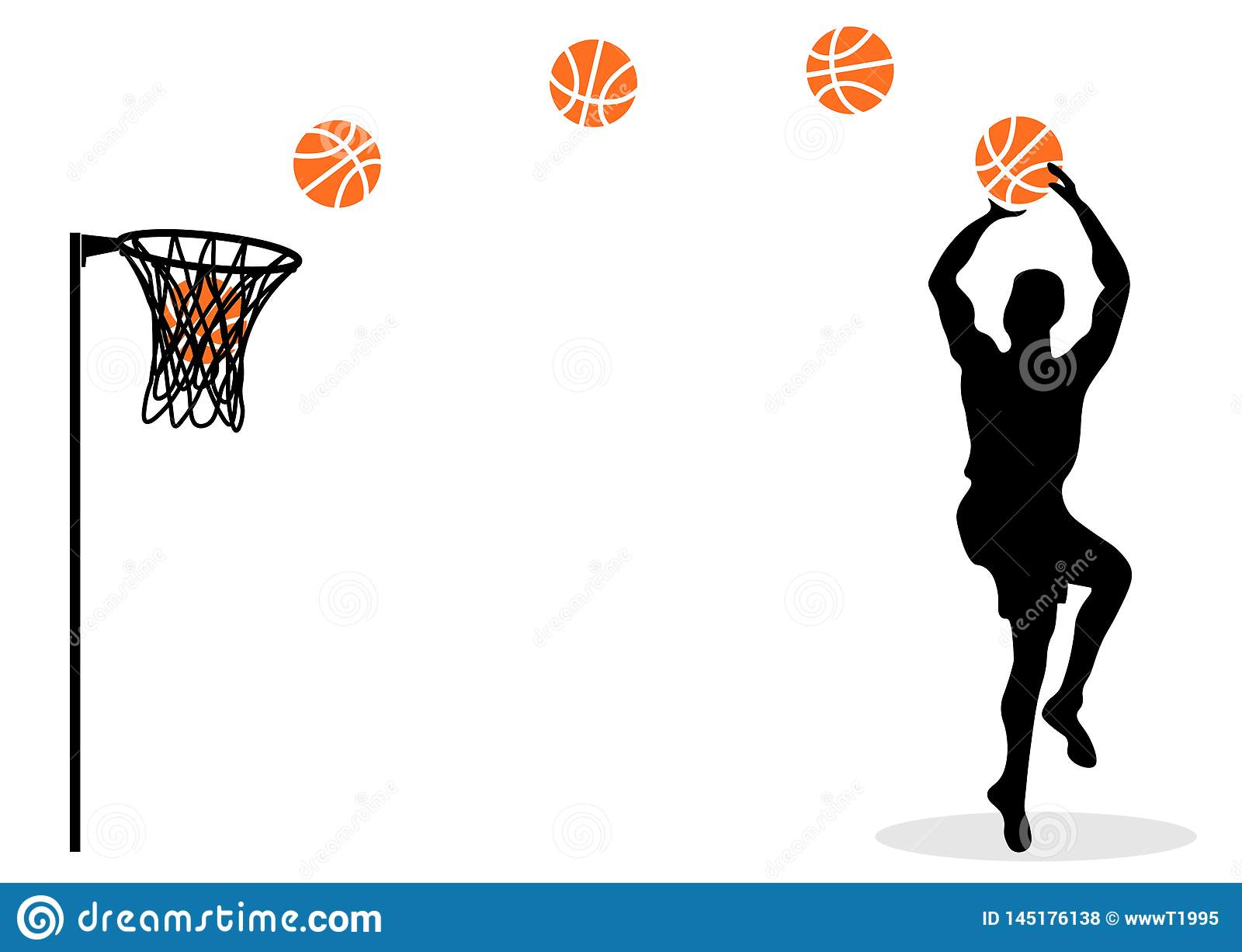 Sieci koszykówka Gracz w skoku Z piłką grafit s dinosaury