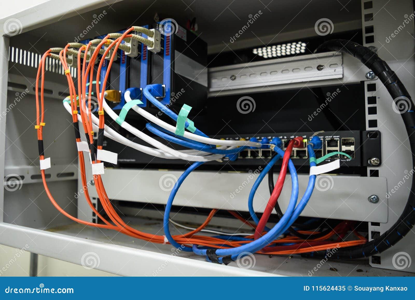 Sieci wyposażenie w małym stojaku