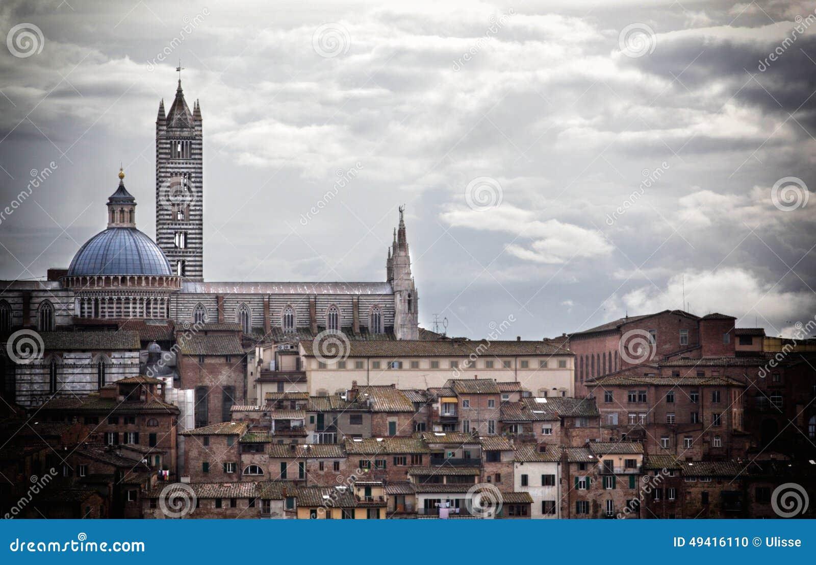 Download Siena stockfoto. Bild von berühmt, grenzstein, mittelalterlich - 49416110