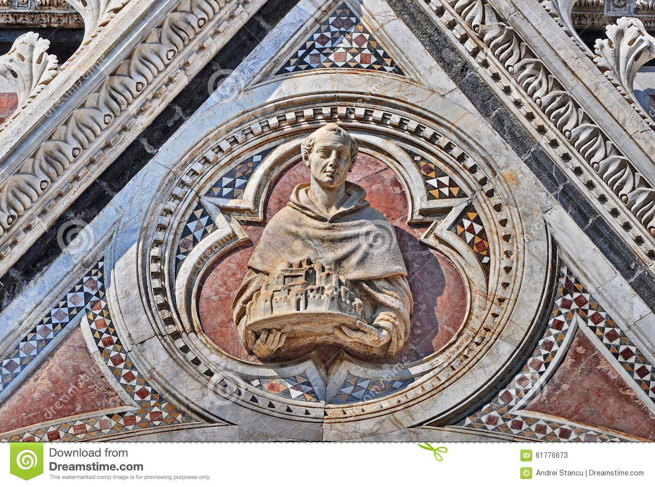 Siena Cathedral detail Italy