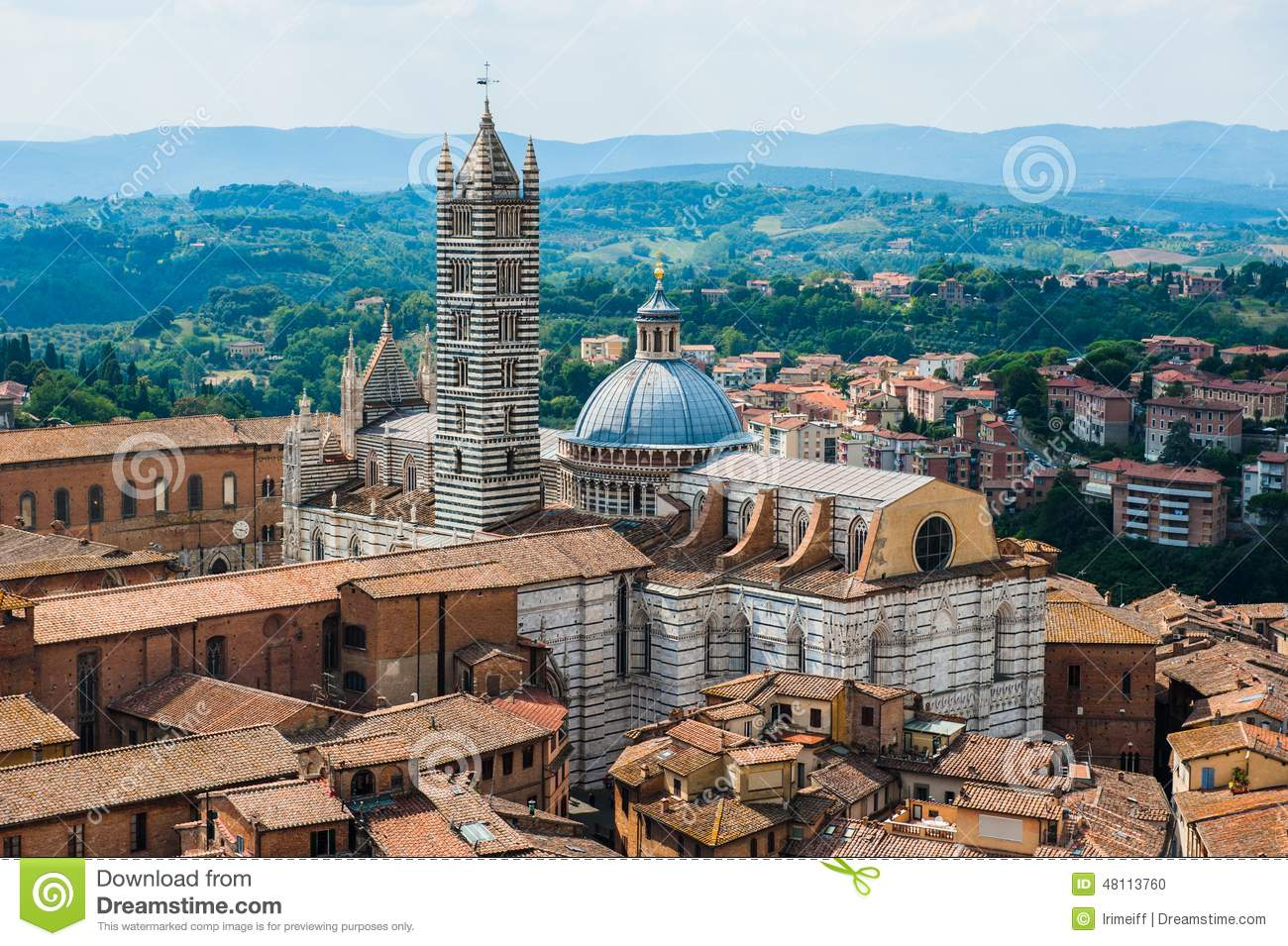 Siena Image Of Ancient Italy City View From The Top