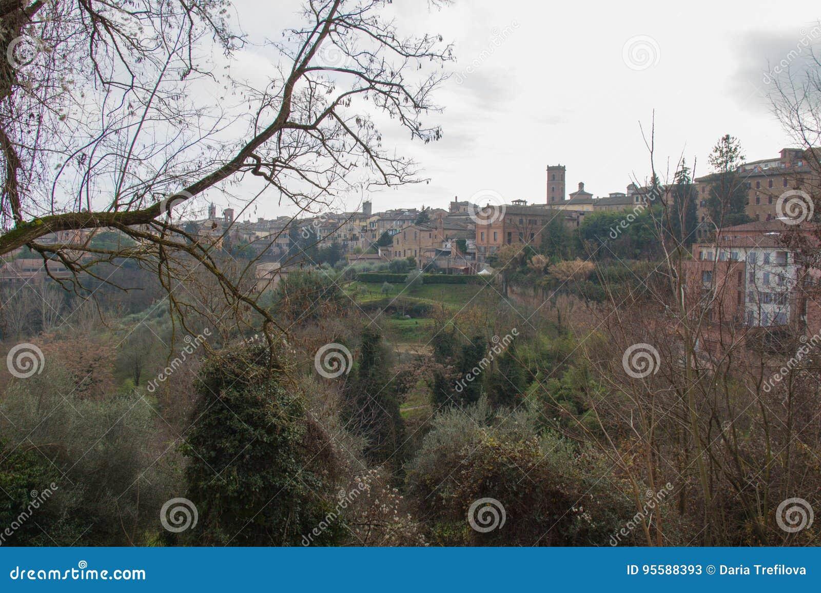 Siena landscape. Tuscany, Italy.