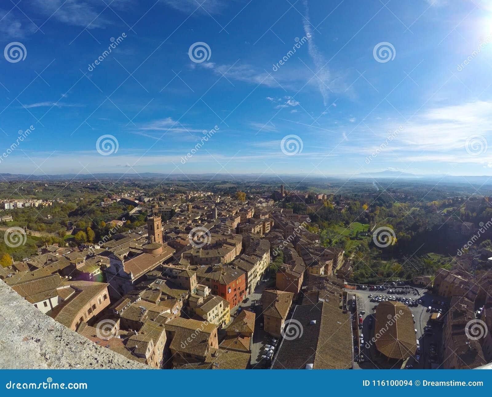 Siena landschap vanaf de bovenkant