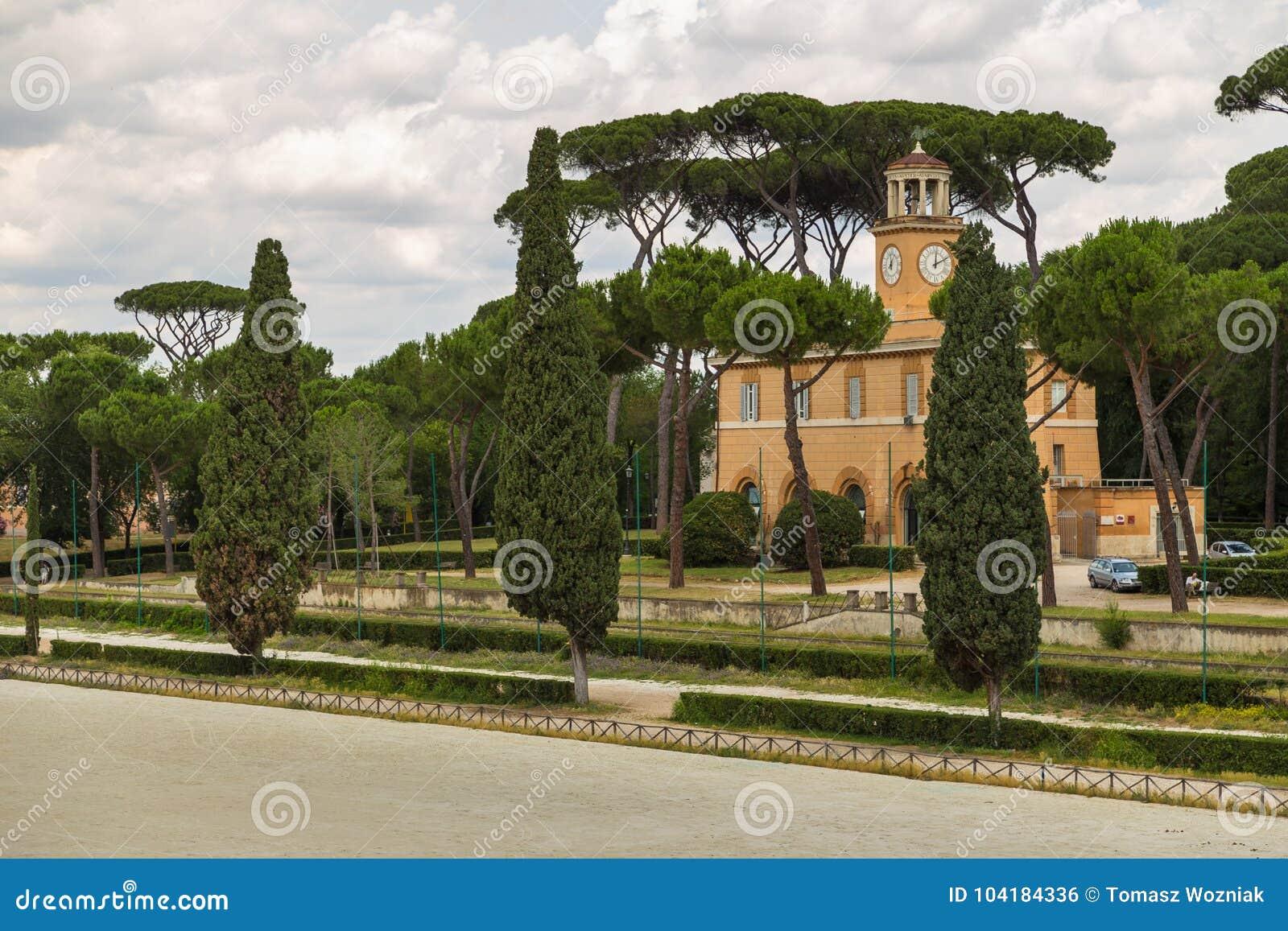 Siena Square Inside The Villa Borghese Gardens. Stock Photo - Image ...