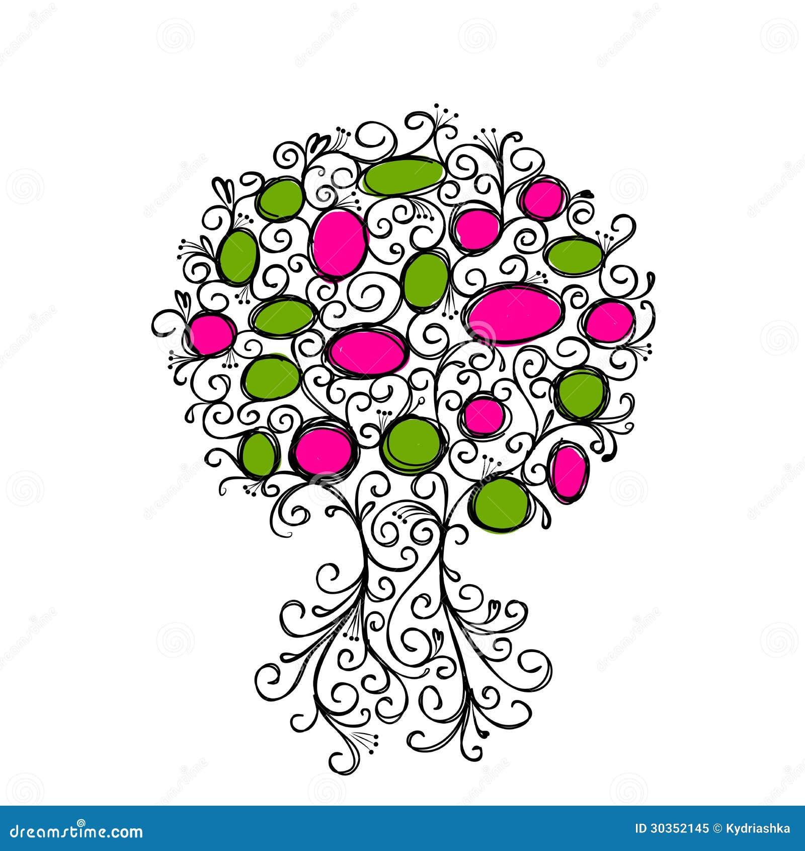 Sier boom met kaders voor uw ontwerp royalty vrije stock foto beeld 30352145 - Boom ontwerp ...