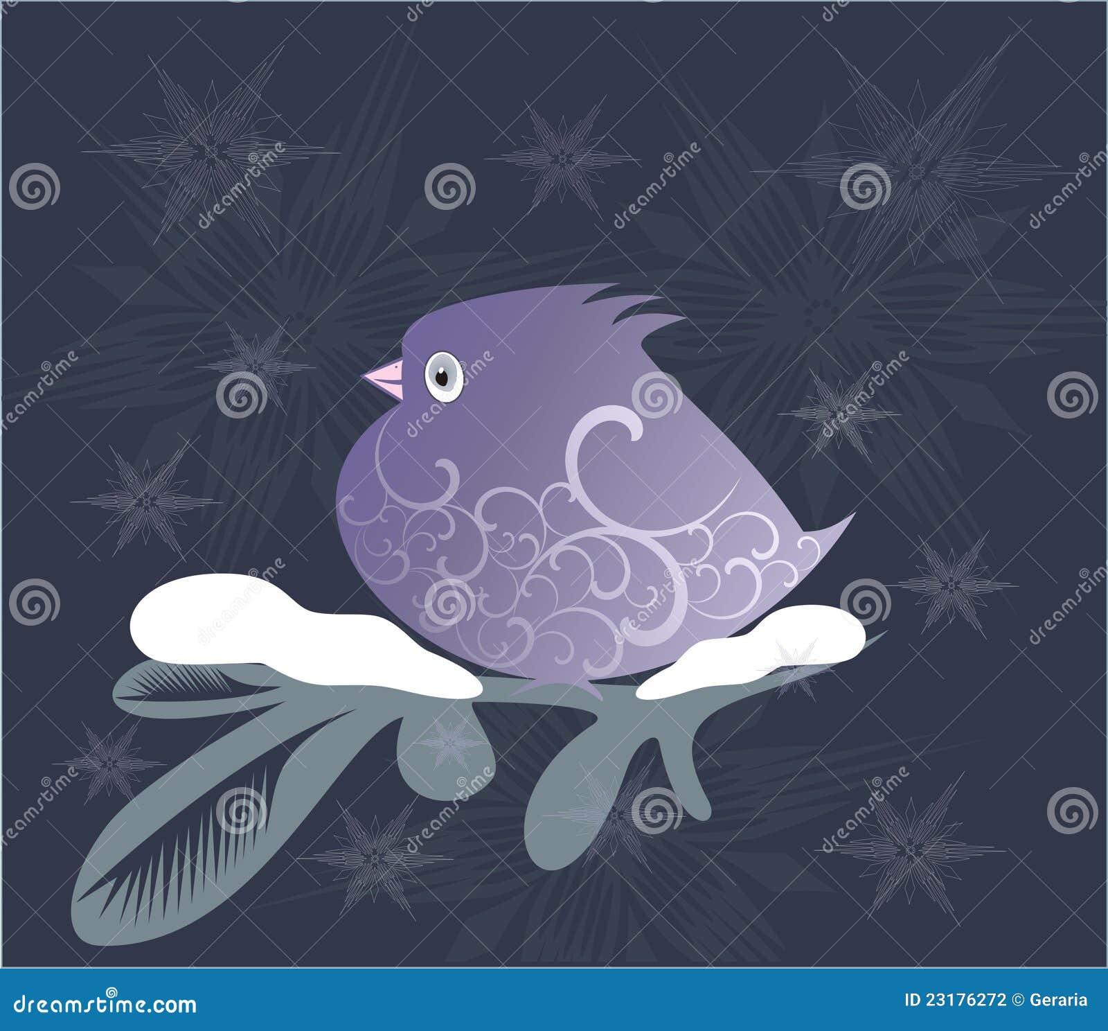 Sier lilac vogel