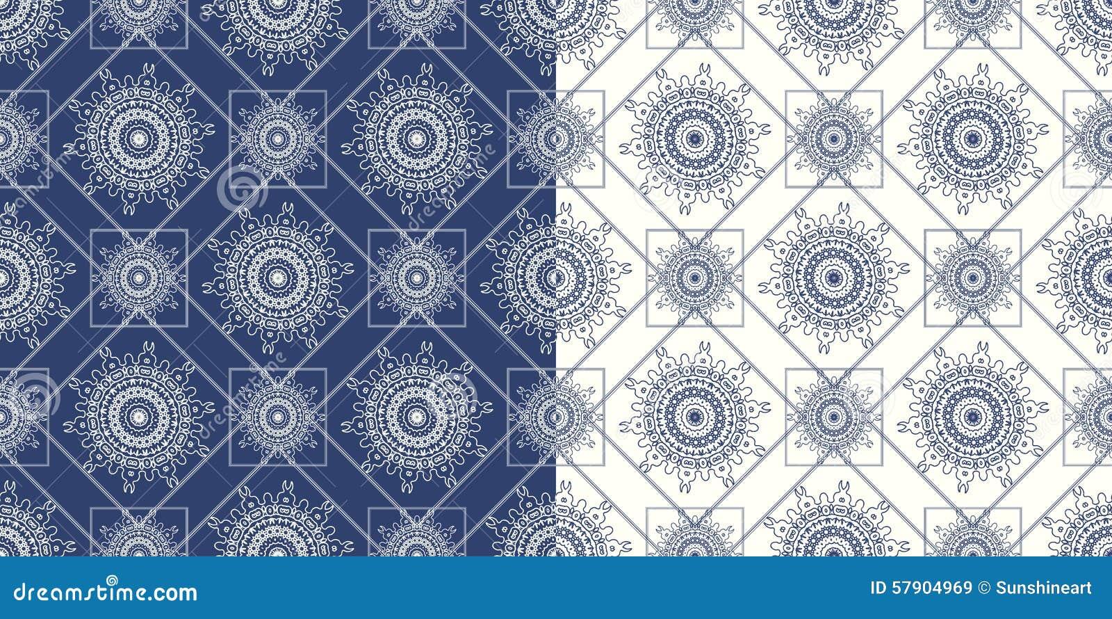 Sier naadloos patroon met traditioneel