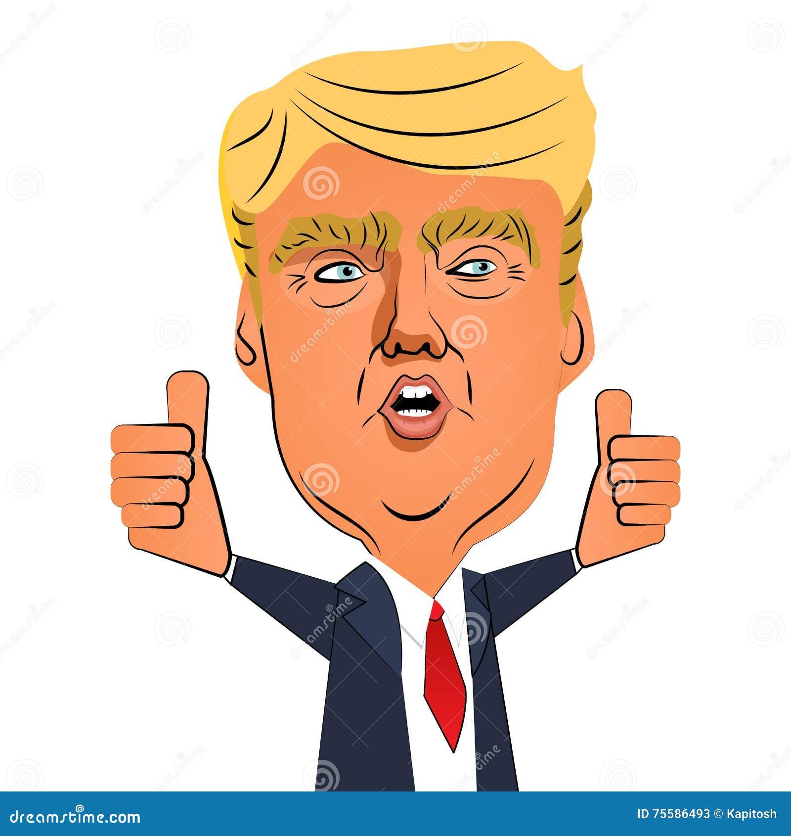 Sierpień 10, 2016: Donald atutu kciuk up