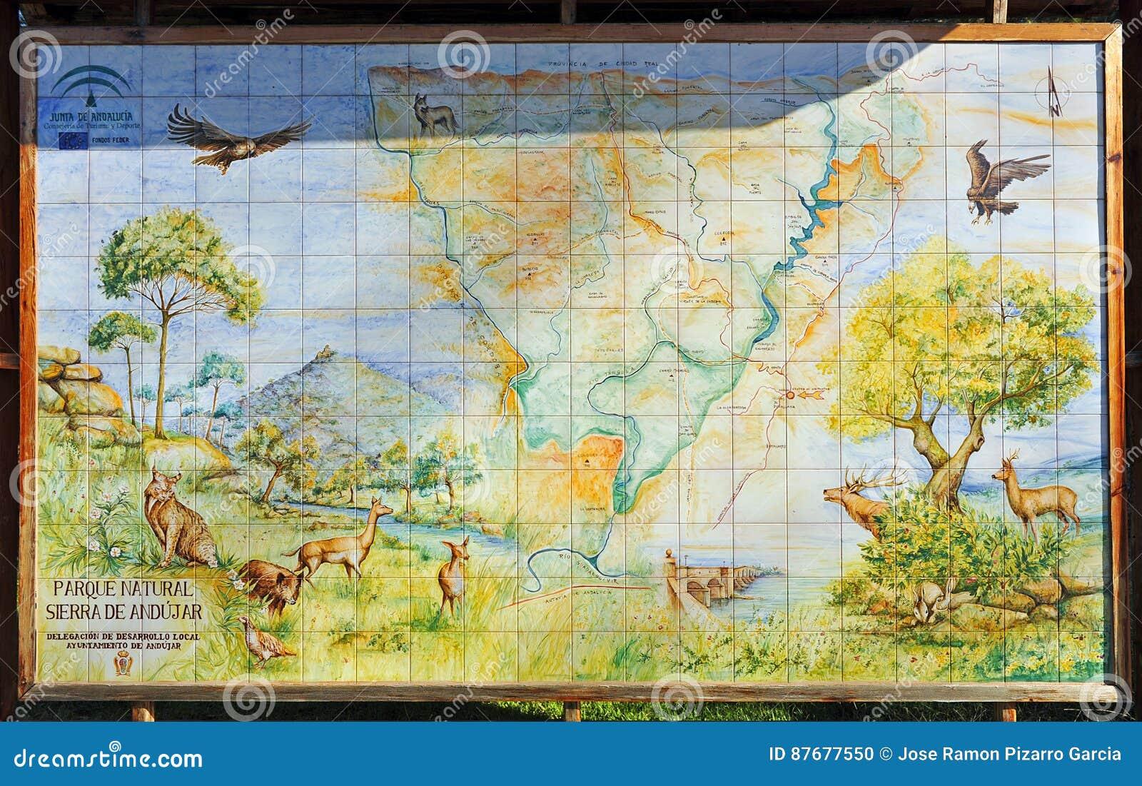 Map Of Spain Jaen.The Sierra De Andujar Natural Park Jaen Province Spain Editorial