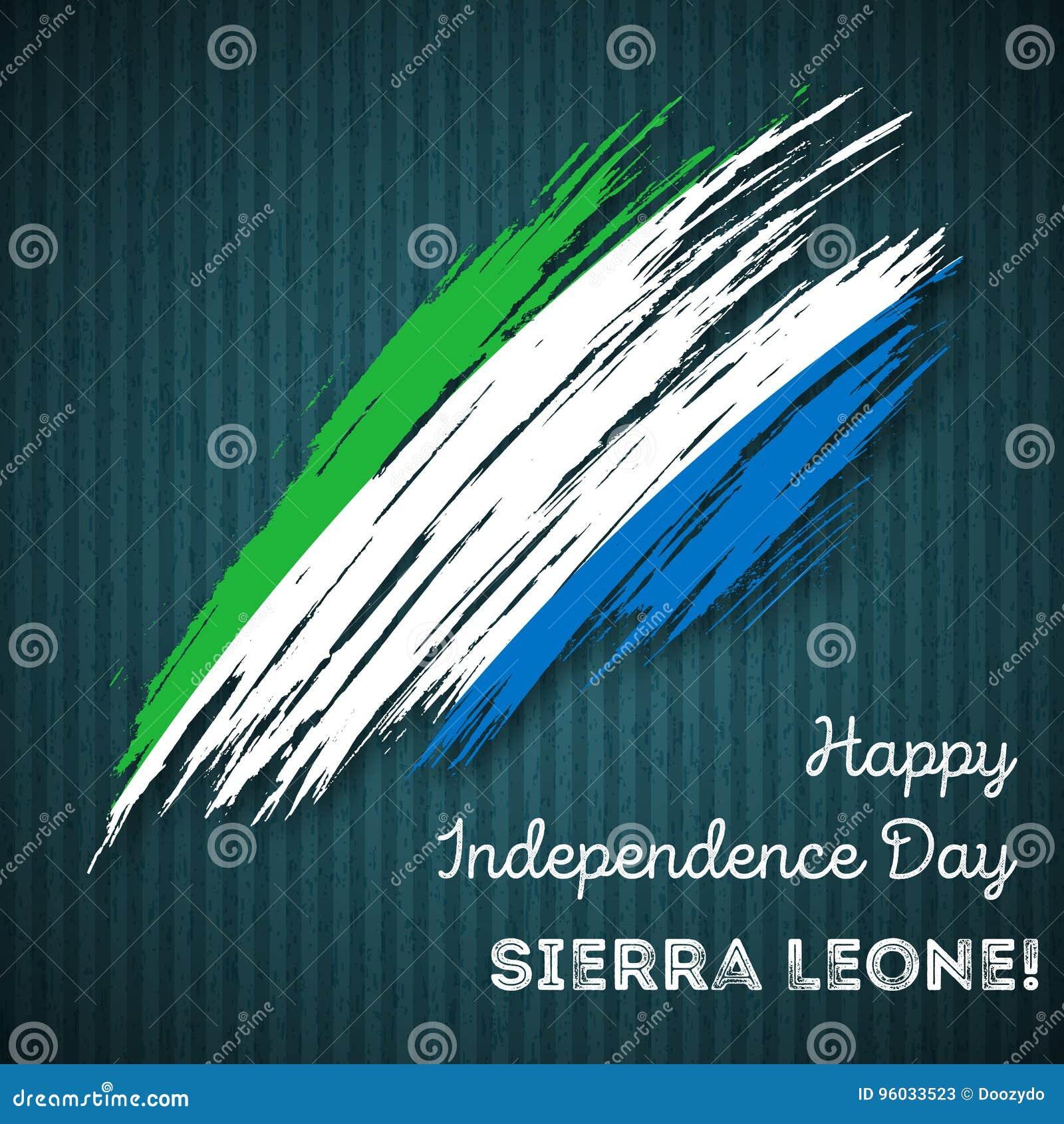 Sierra Leone dnia niepodległości Patriotyczny projekt