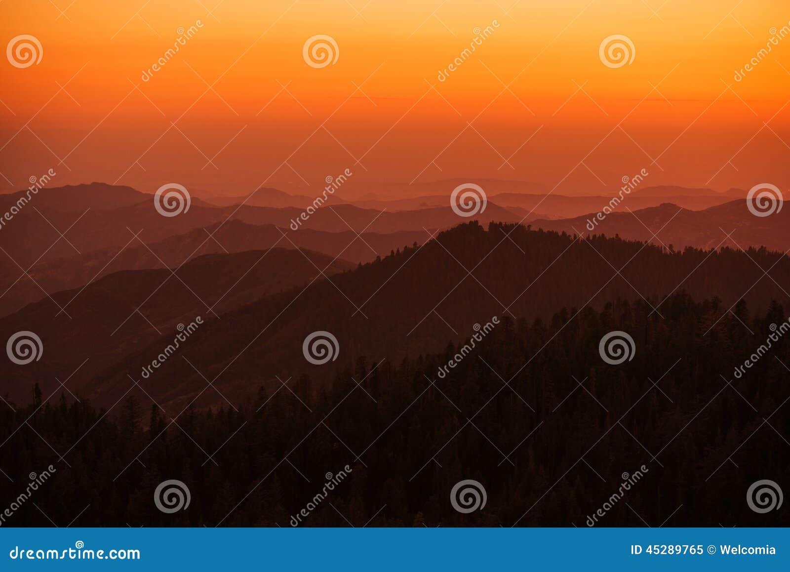Sierra Nevada Summer Sunset
