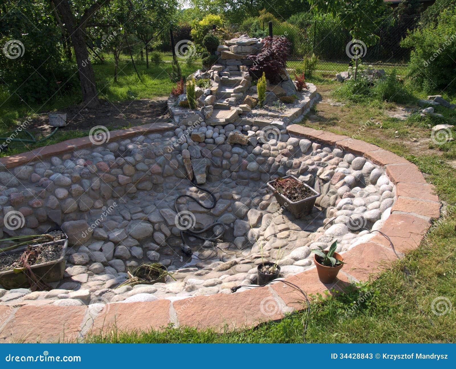 Siervijver stock foto 39 s afbeelding 34428843 - Tuin decoratie buitenkant ...
