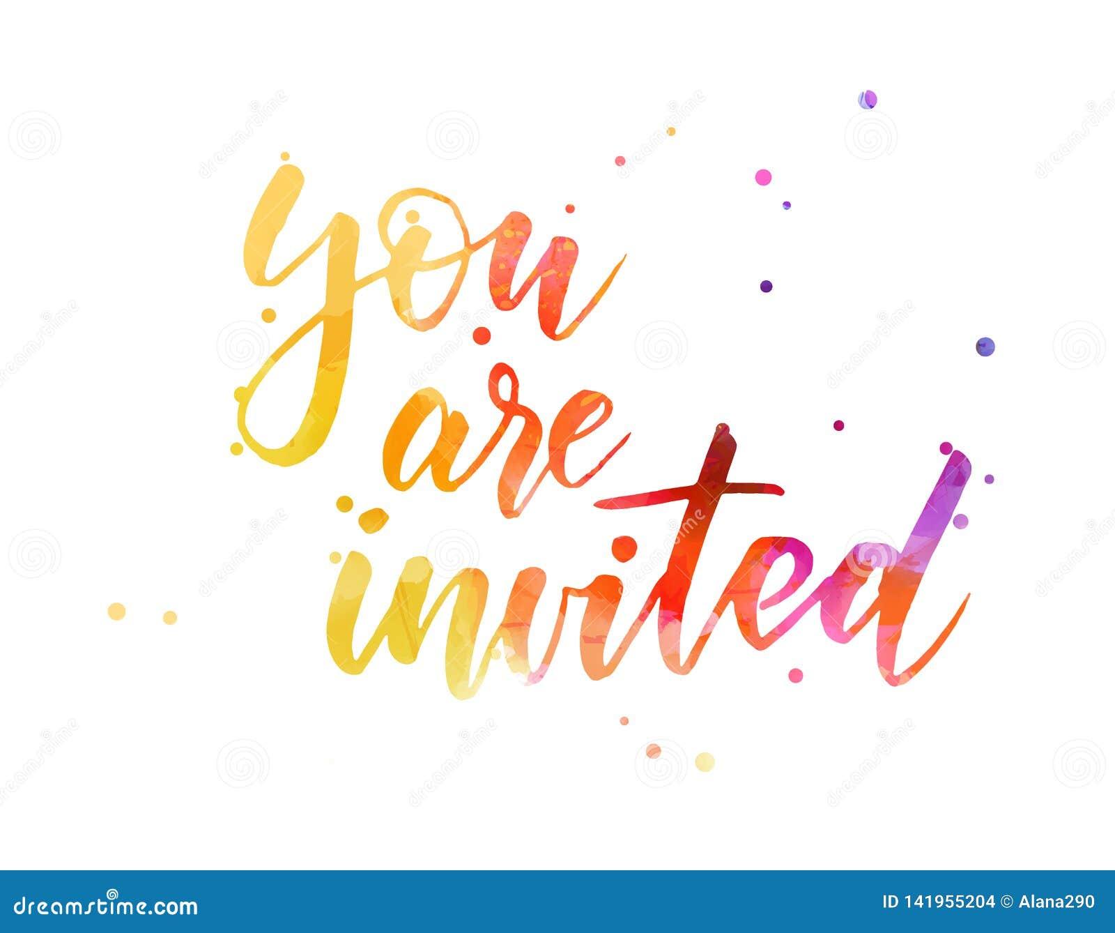 Siete invitato