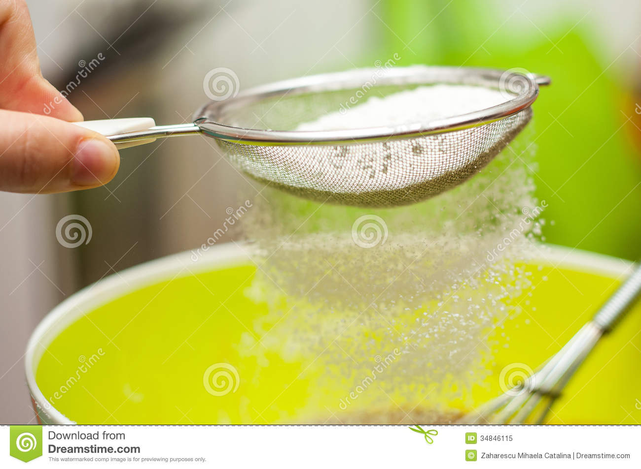 Sieving Flour Royalty Free Stock Photo - Image: 34846115
