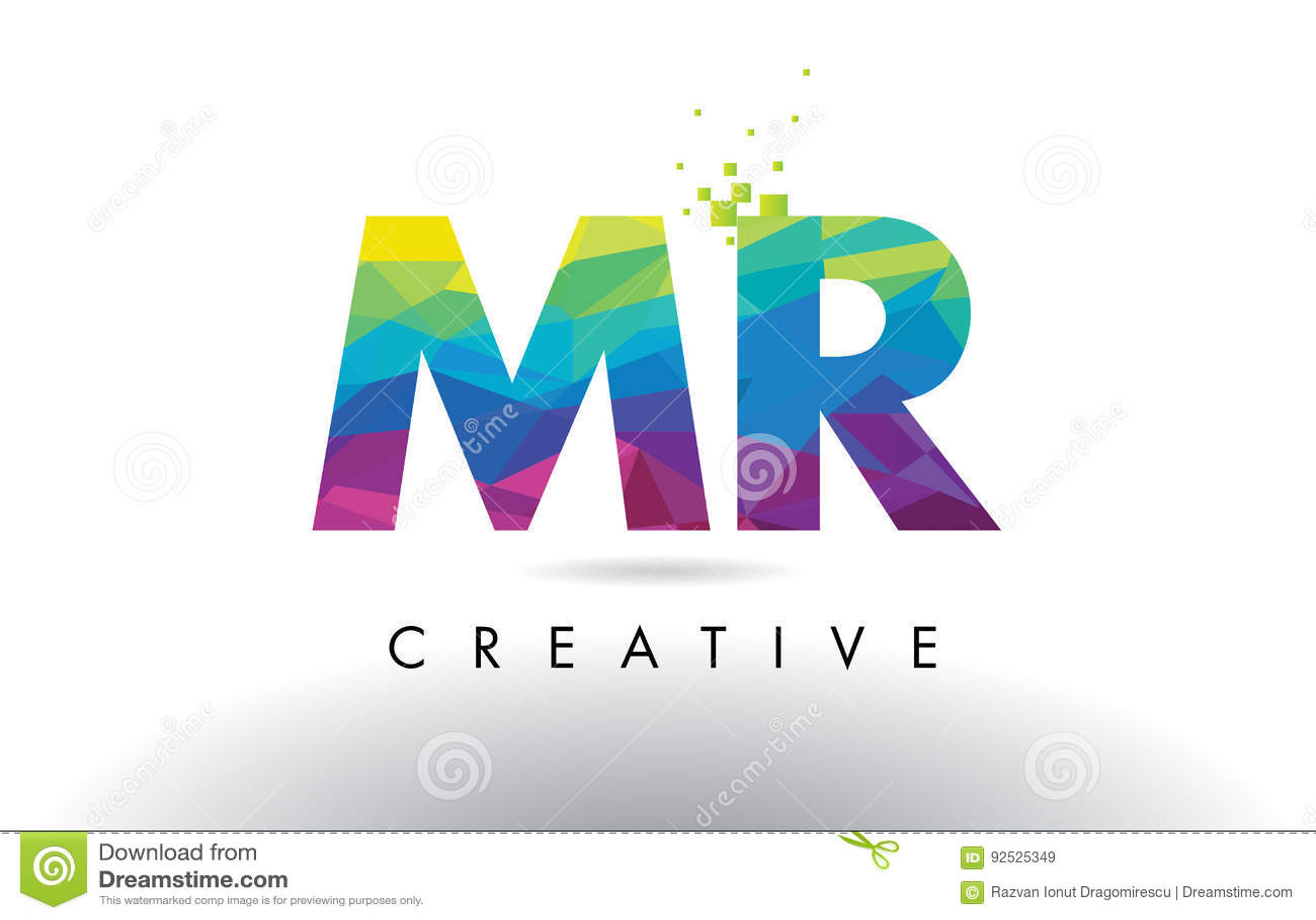 SIG. vettore di progettazione dei triangoli di m. R Colorful Letter Origami