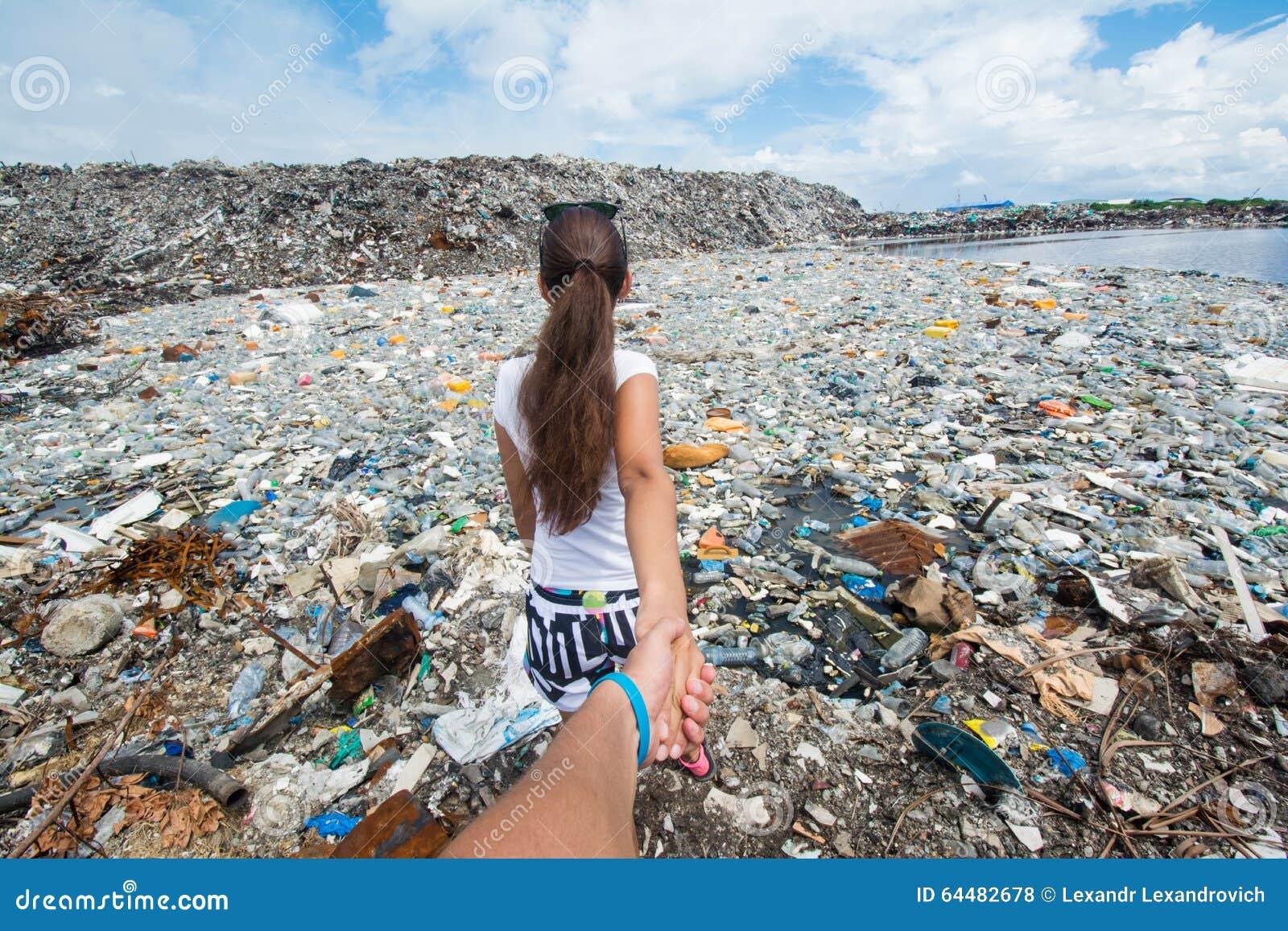 Siga-me versão na descarga de lixo