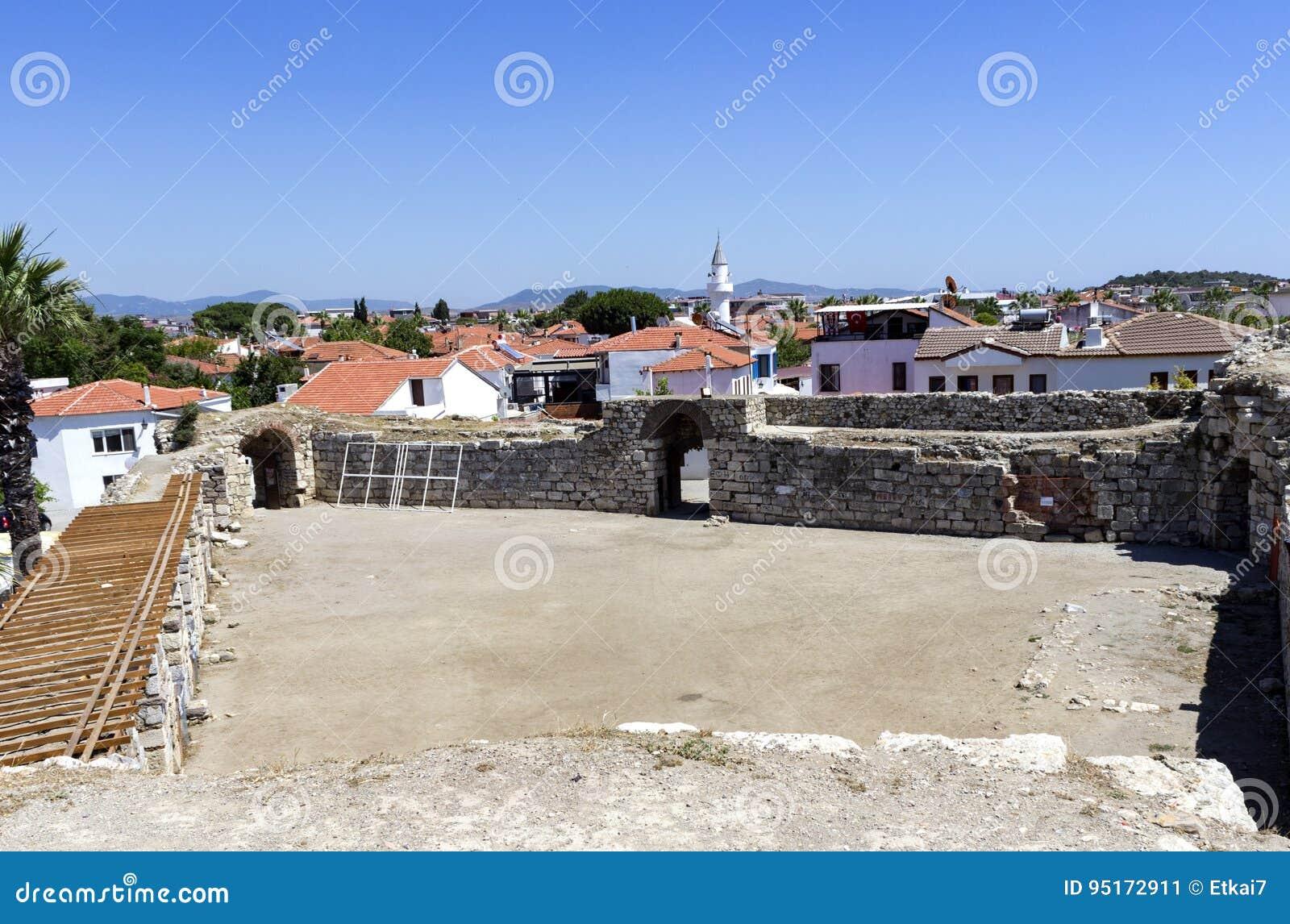 Sigacik Castle With City View Izmir Turkey Stock Image Image Of History Ruins 95172911