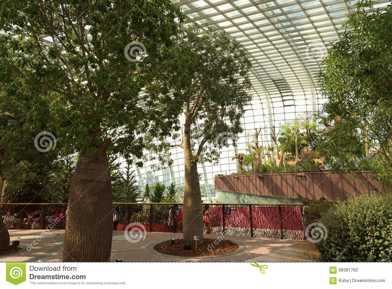 Sigapore - March,2016.Interior Flower Dome In Gardens By The Bay In ...