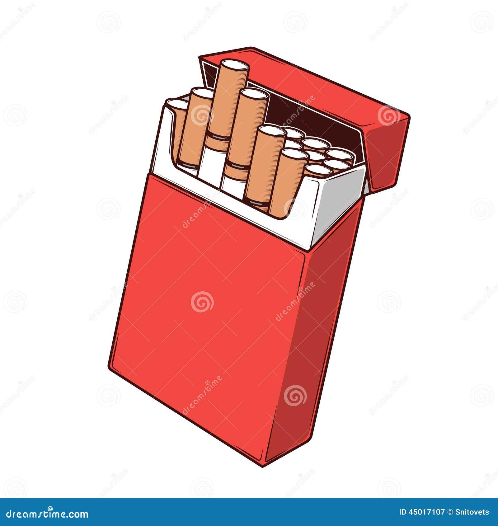 Sigarette Del Primo Piano In Un Pacchetto Rosso Isolato Su Un Fondo