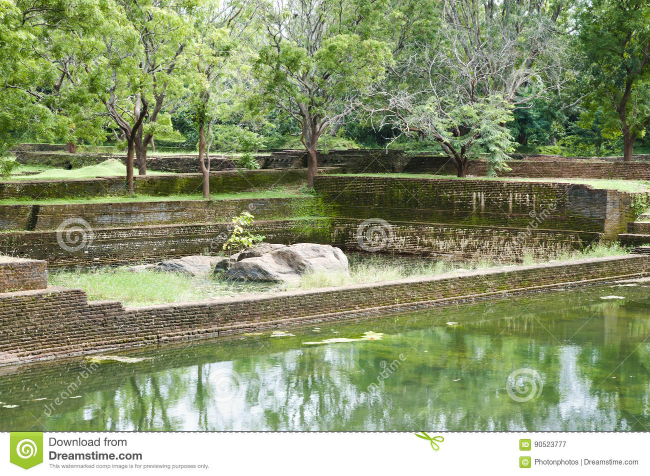 Download Sigiriya Boulder Garden   Sri Lanka Stock Image   Image Of Lanka,  Temple: