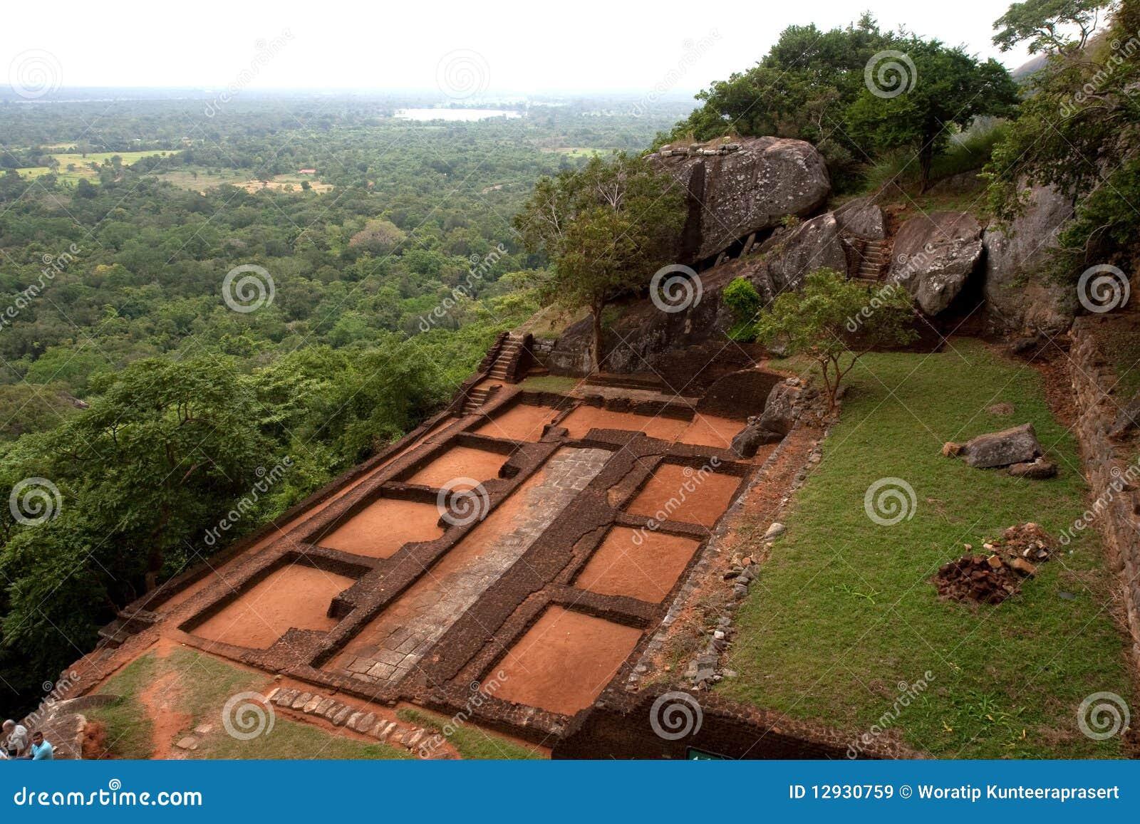 Sigiriya Lions Rock In Sri Lanka Royalty Free Stock