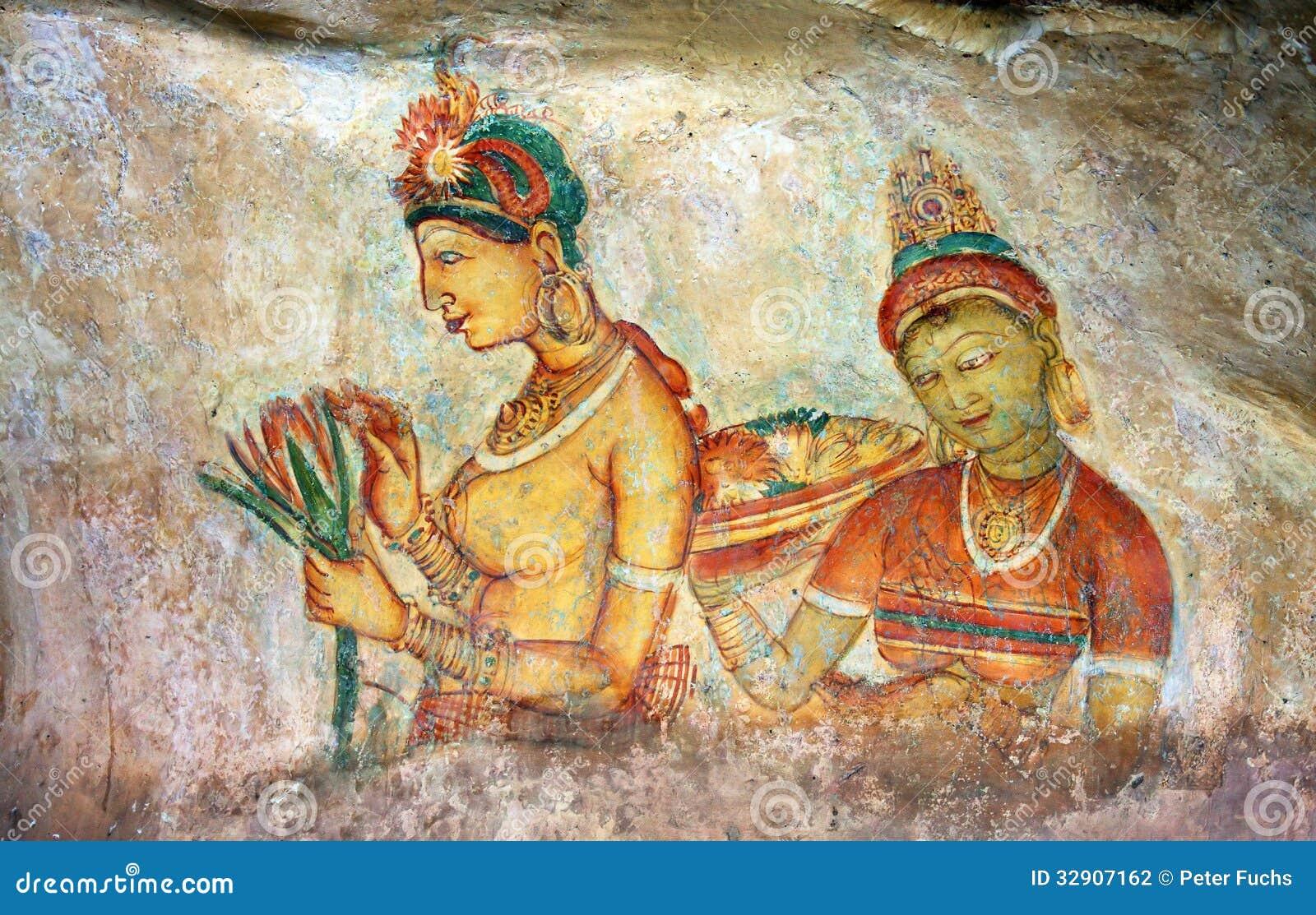 Sigiriya Painting Stock Photography Image 32907162