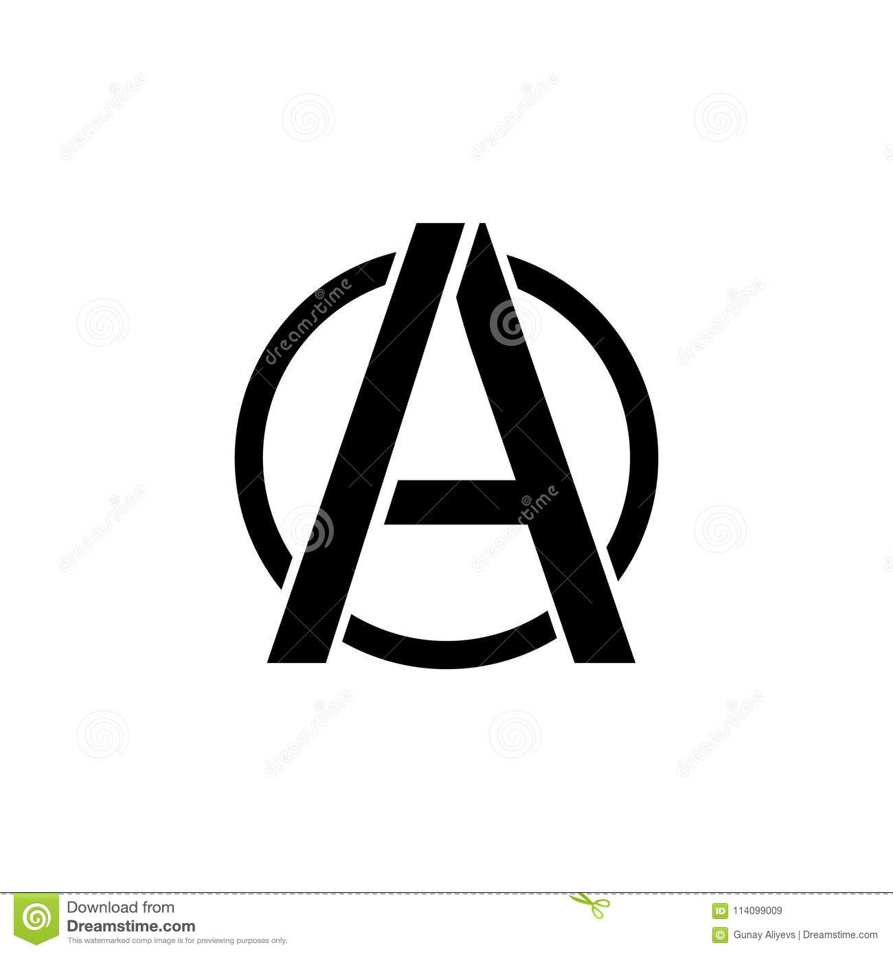 A Sign Of Anarchy Icon Element Of Communism Illustration Premium