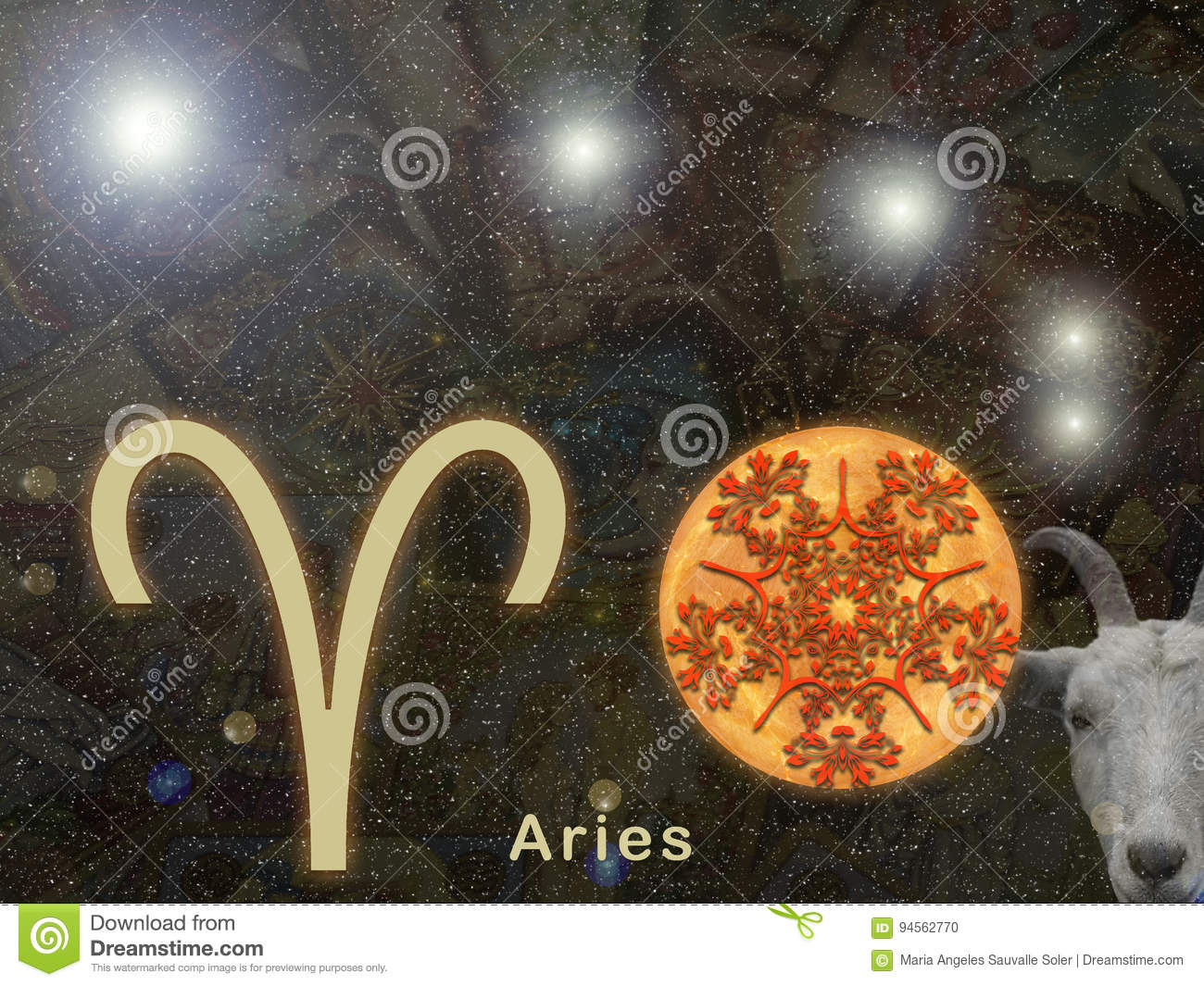 Sign of Aries.