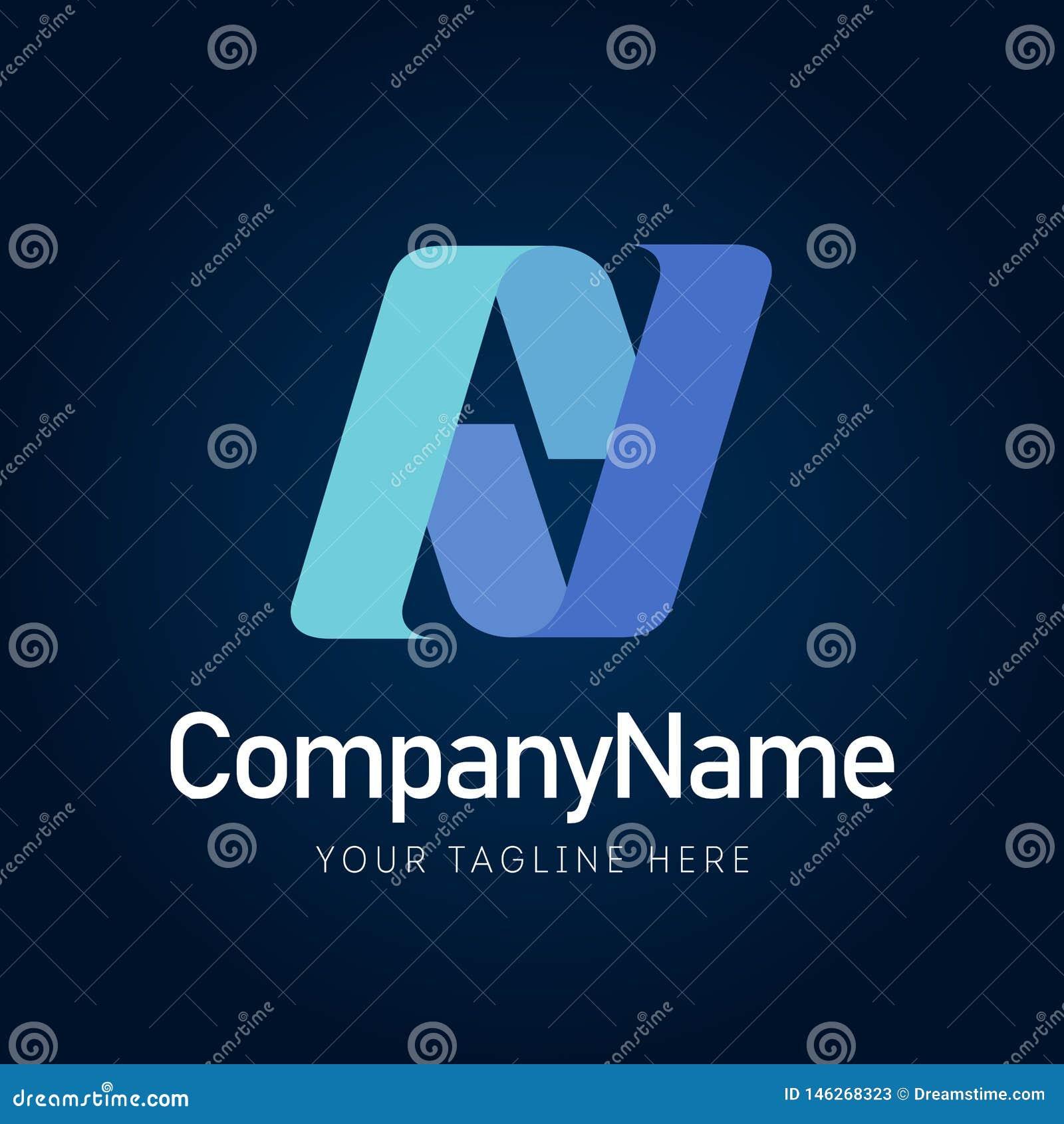 Sign AV bussines logo element icon company