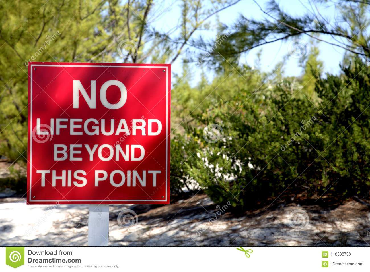 No Lifeguard beyond this point