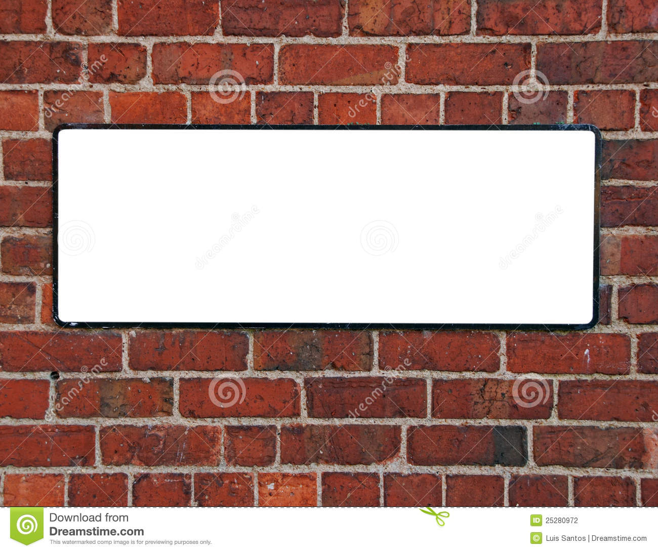 Sign On A Brick Wall Stock Photography Image 25280972