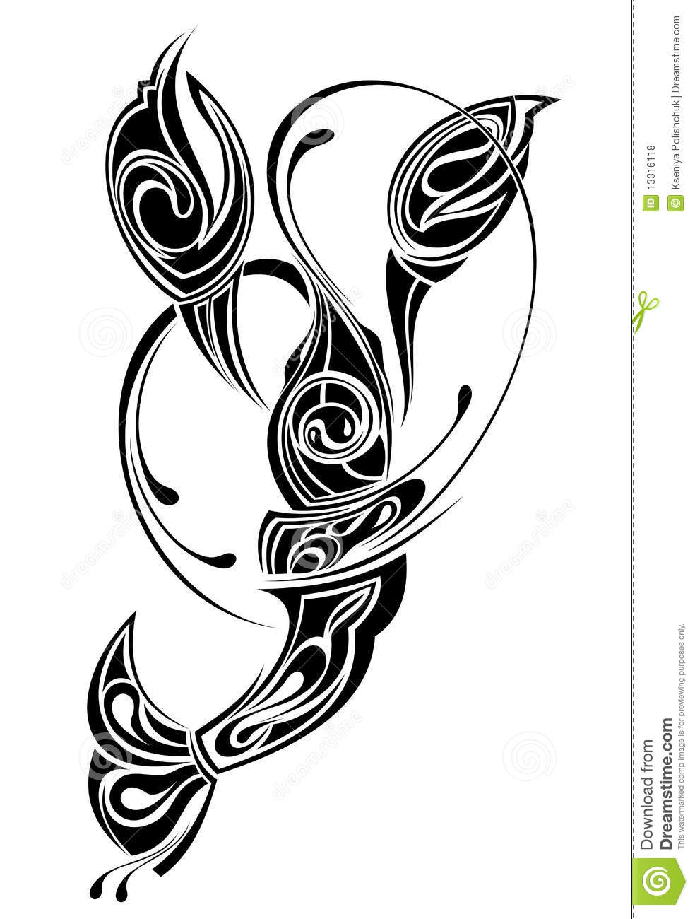 679bd5e96 Sign Of Cancer. Tattoo Design. Stock Vector - Illustration of ...