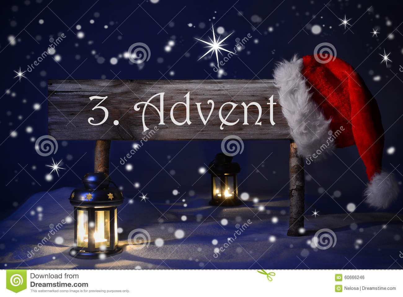 sign candlelight santa hat 3 advent means christmas time. Black Bedroom Furniture Sets. Home Design Ideas