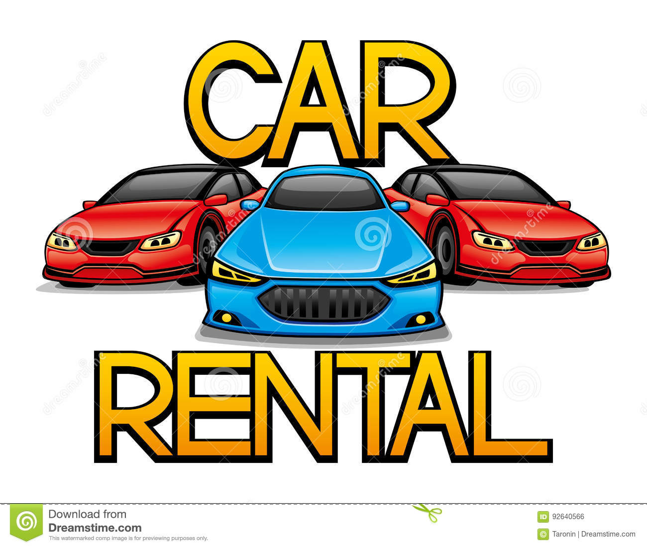Sign Of Car Rental Stock Vector Illustration Of Icon 92640566