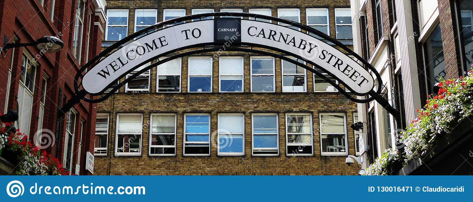 Sign of Carnaby Street in London