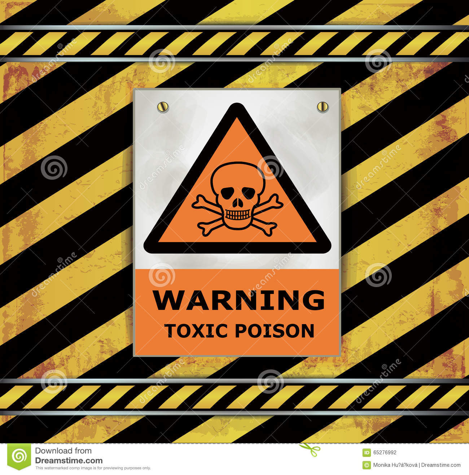 Sign caution blackboard warning toxic poison
