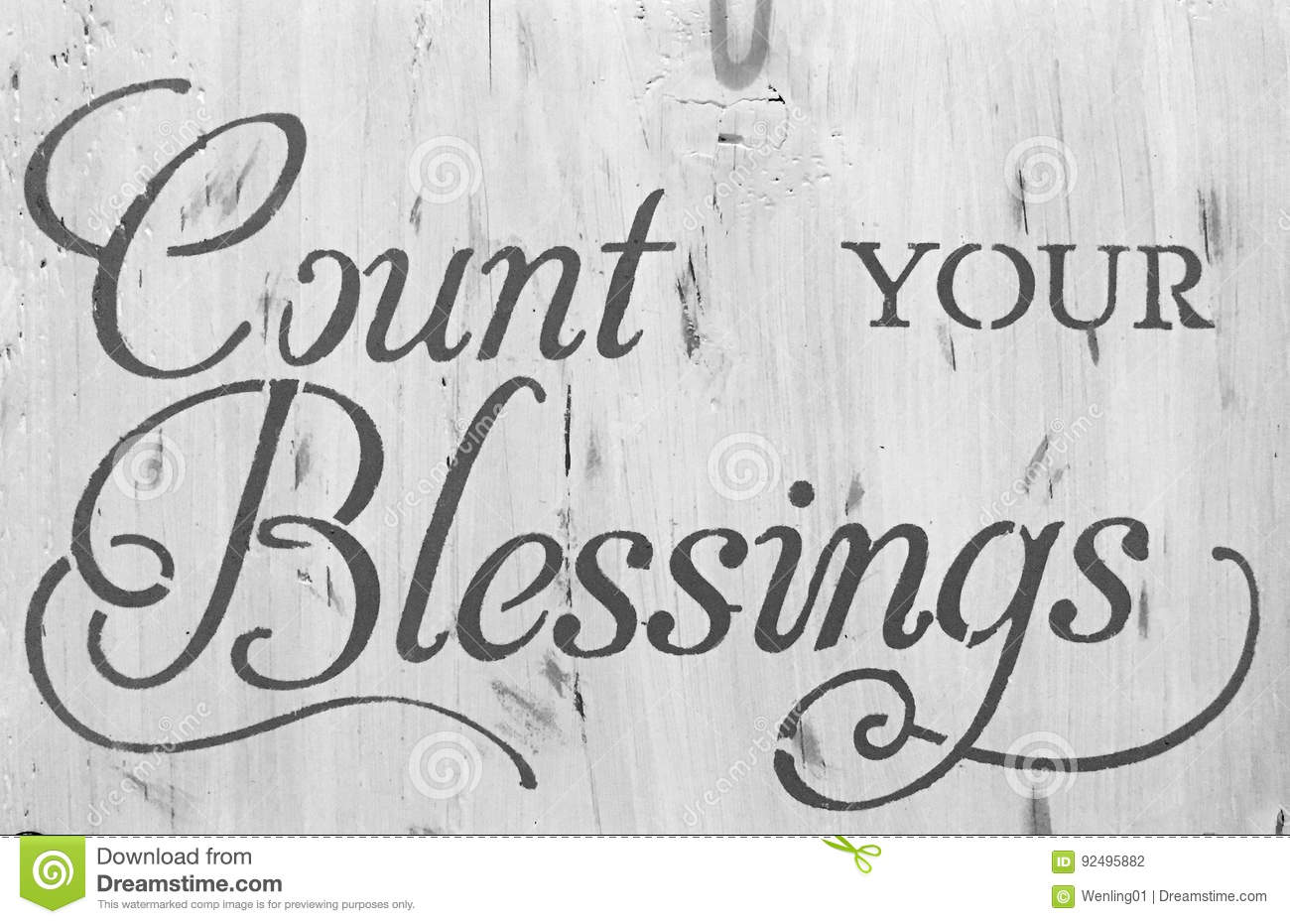 Sign count your blessing