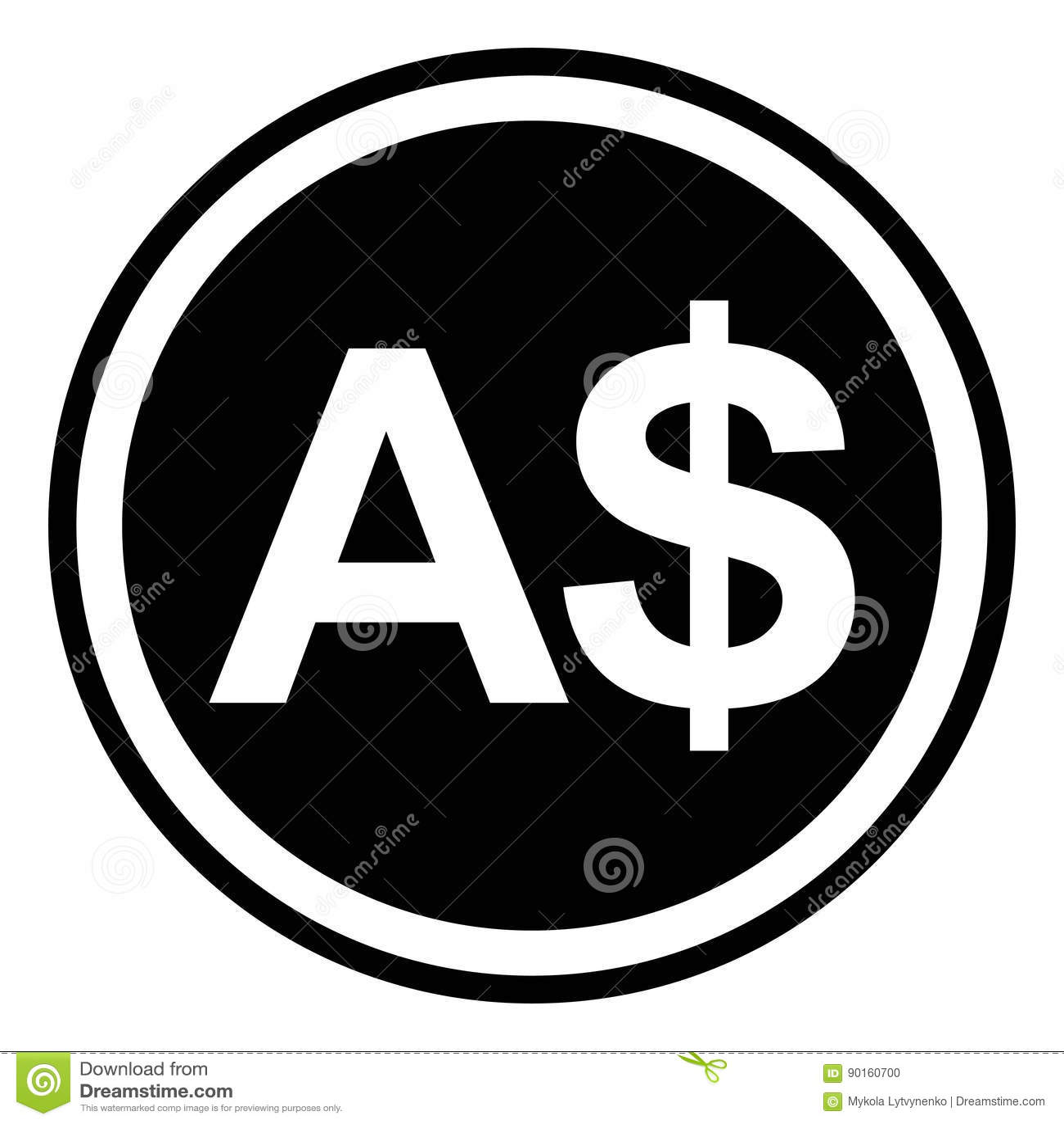 Sign Currency Australia Australian Dollar Vector Stock Vector