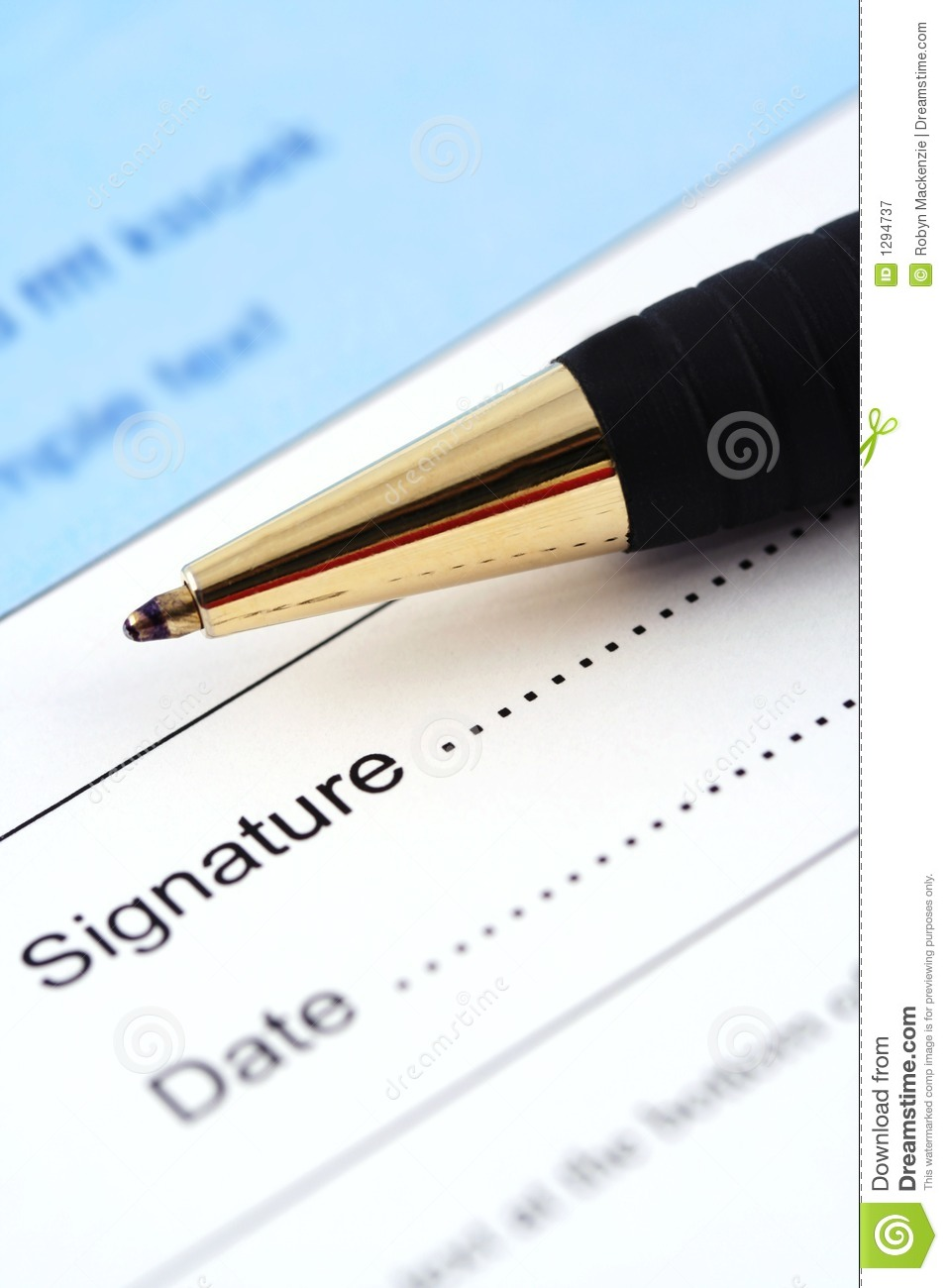 Sign And Date Here Royalty Free Stock Photography - Image: 1294737