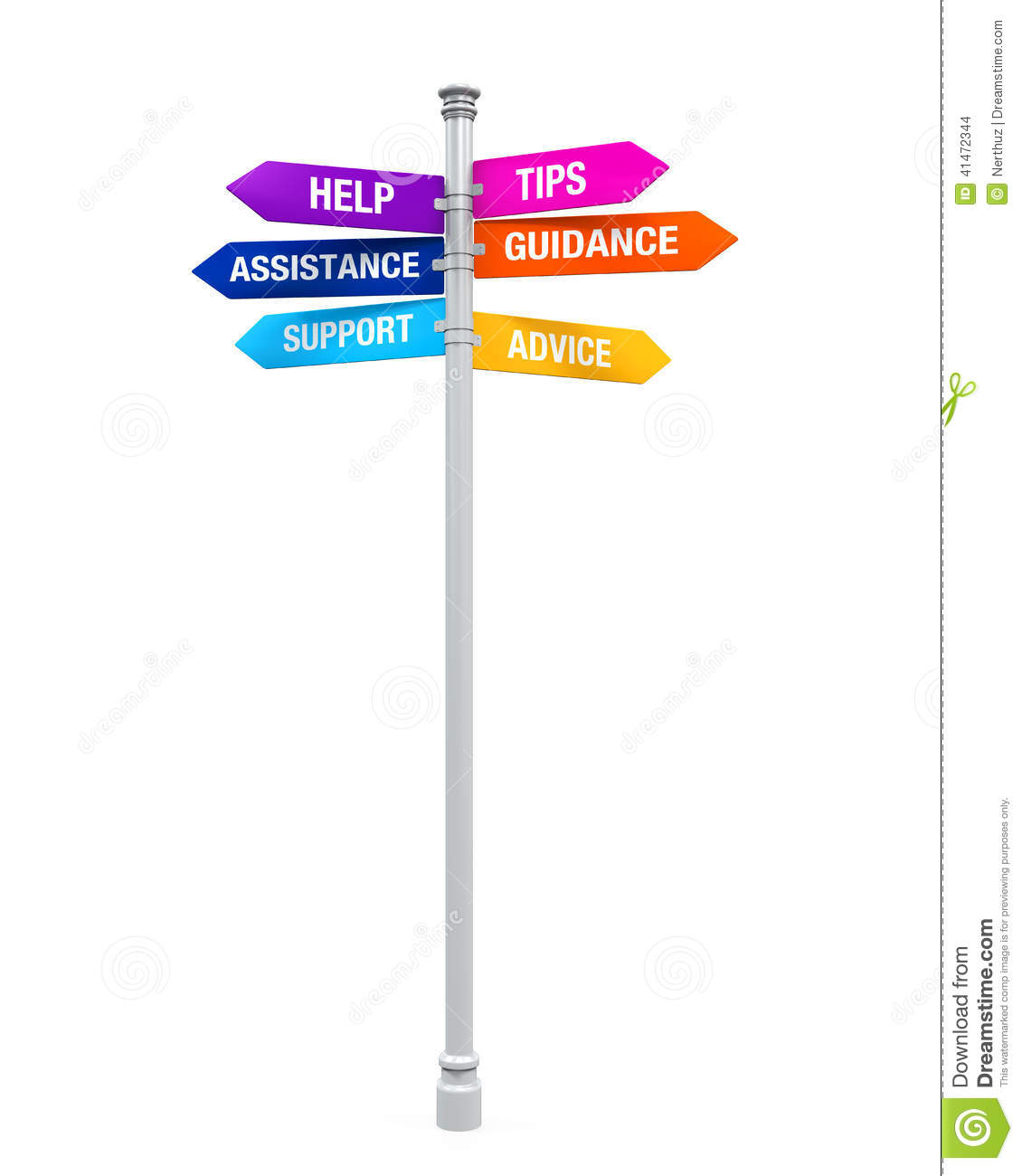 Sign Directions Support Help Tips Advice Guidance