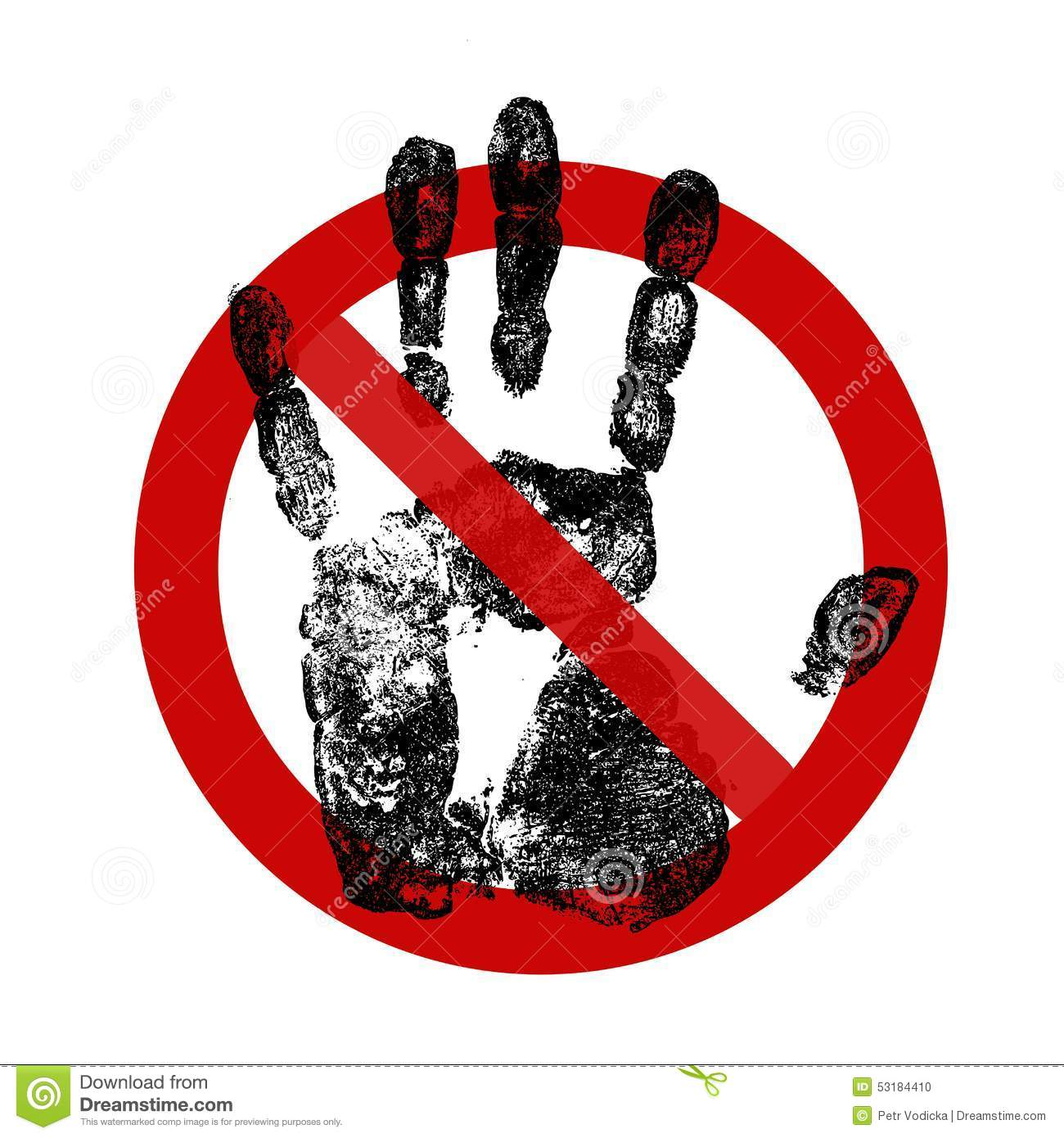 sign do not touch stock illustration image 53184410