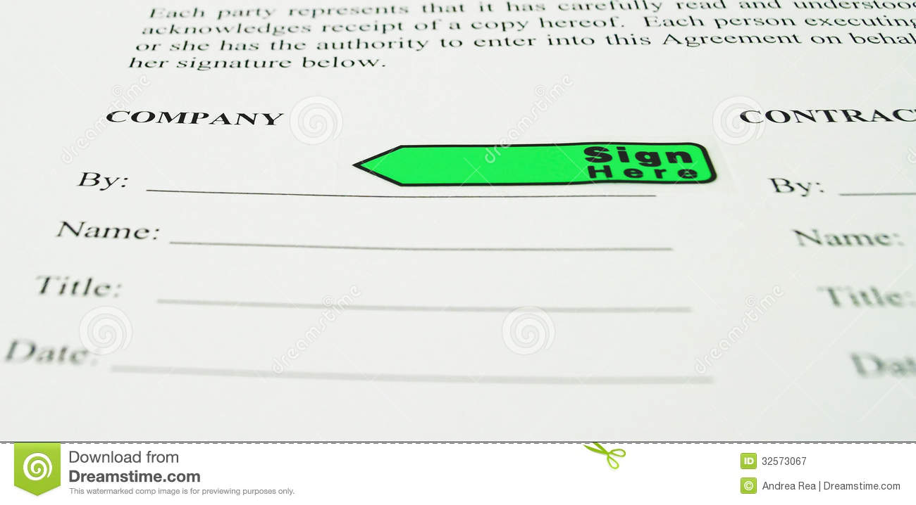 Business Contract Sign Here Royalty Free Photography Image – Free Business Contract