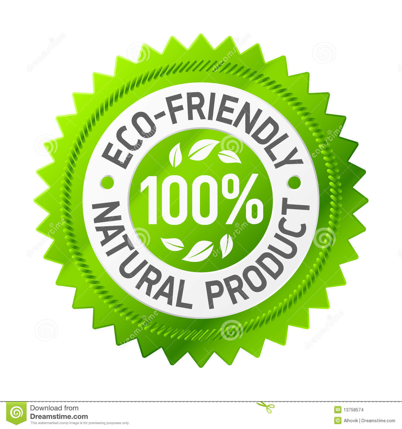 Sign of eco-friendly product